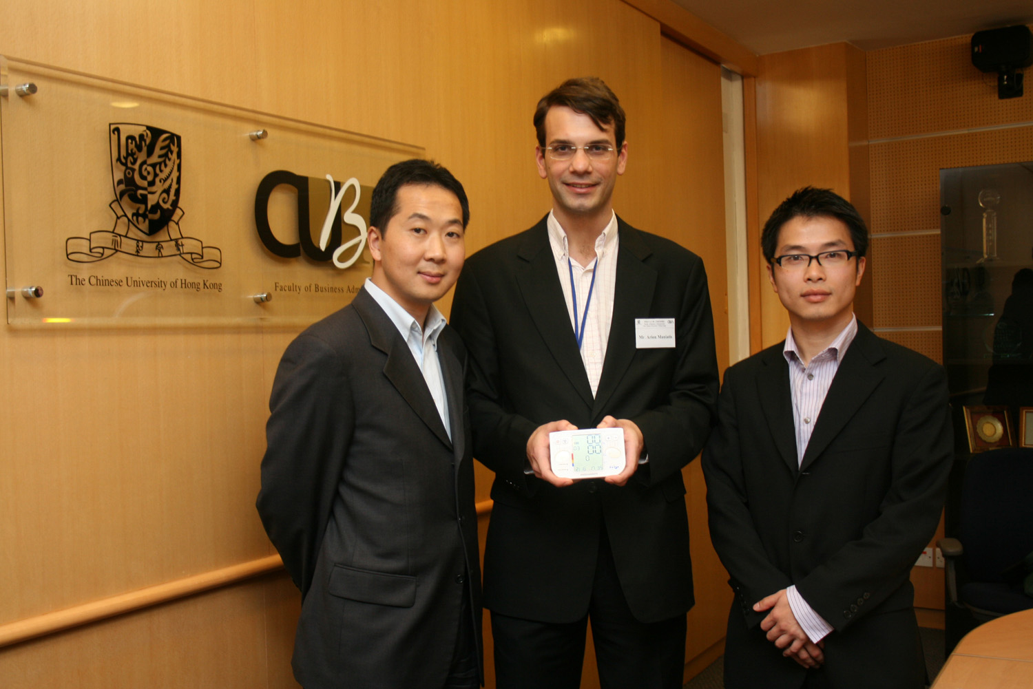 from left - Tony Liu, Arion Maniatis and Yip Chi Youn Terry from Colisa Limited.