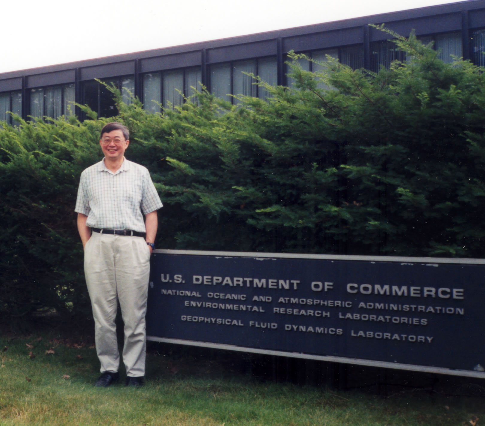 Prof. Lau Ngar-cheung outside the laboratory where he has been working for the past 29 years