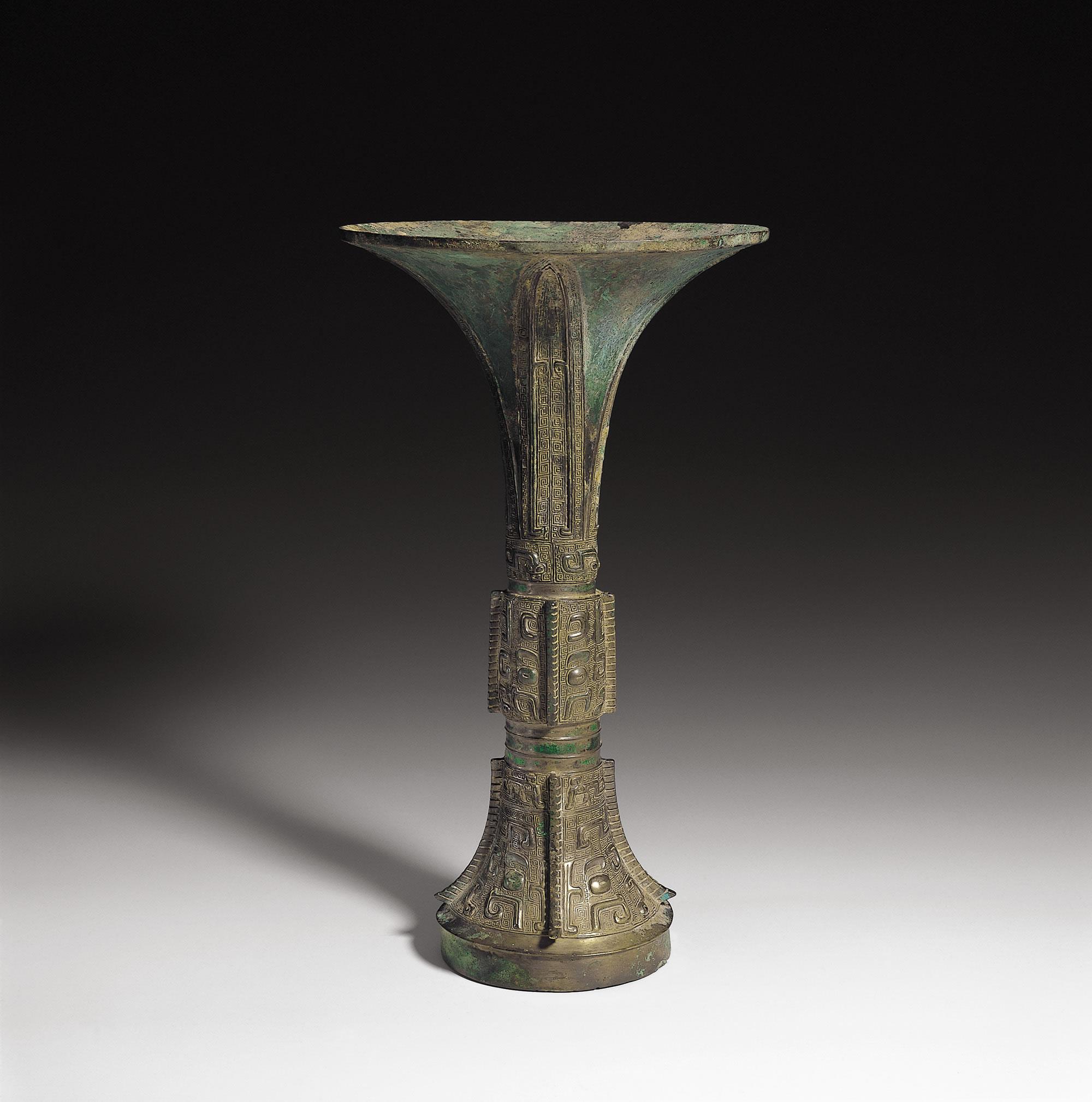 兽面纹觚 商代晚期(公元前13世纪–前11世纪)