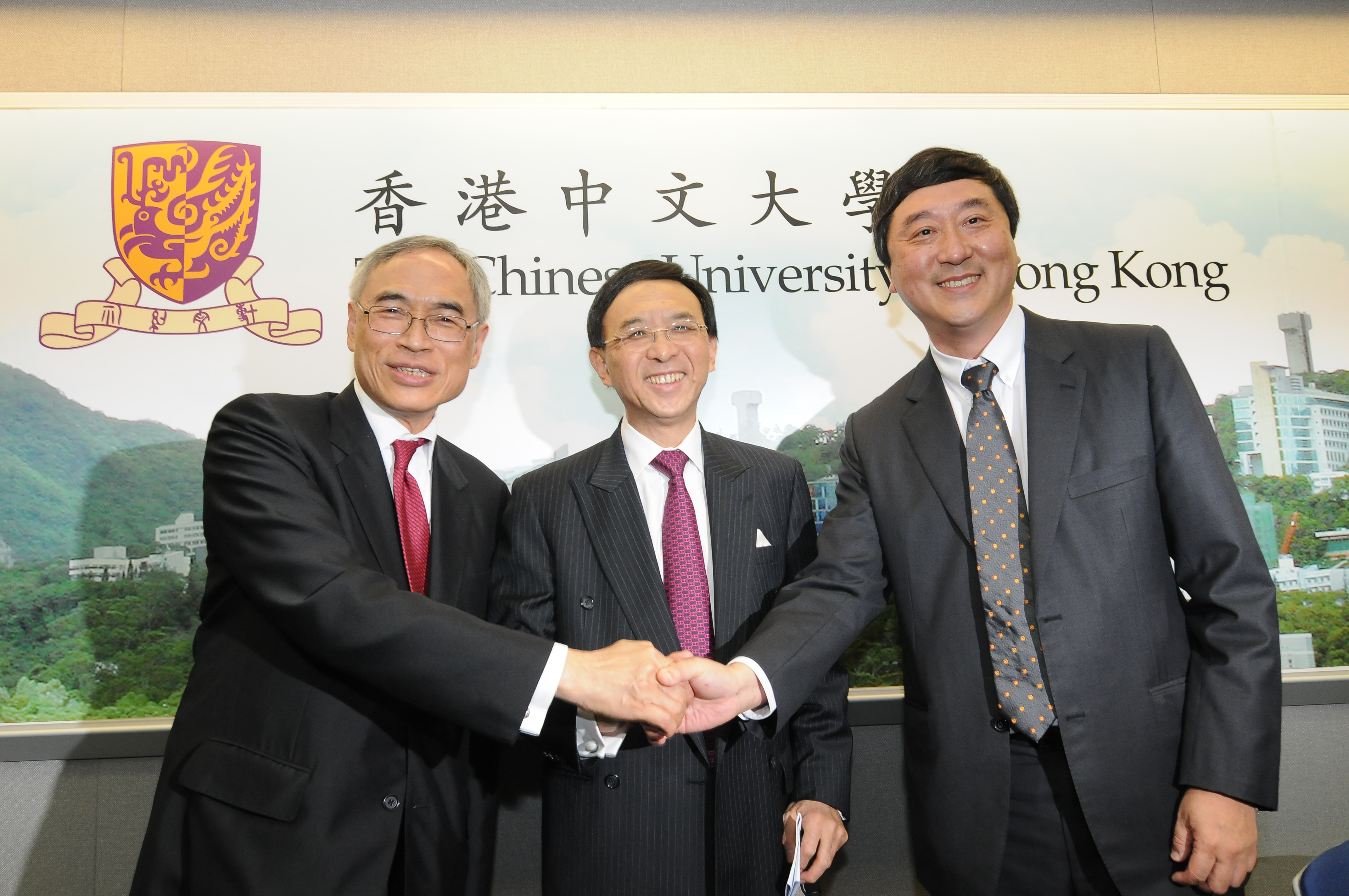 From left: Prof. Lawrence J. Lau, Dr. Vincent Cheng and Prof. Joseph Sung