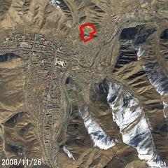 嘎結古寺(衛星SPOT影像)