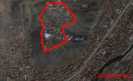 嘎結古寺—震前(GoogleMap參考圖)