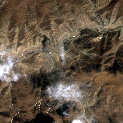 玉樹—震後(衛星Landsat TM 2010 年4月15日)