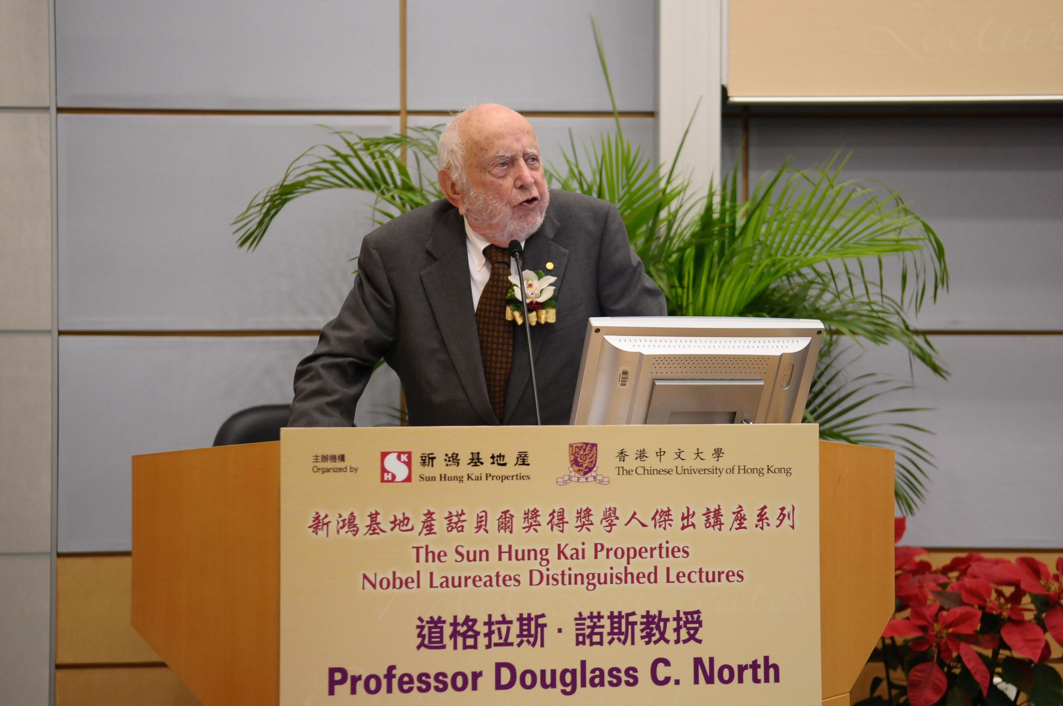 Douglass North, 1993 Nobel Laureate in economics