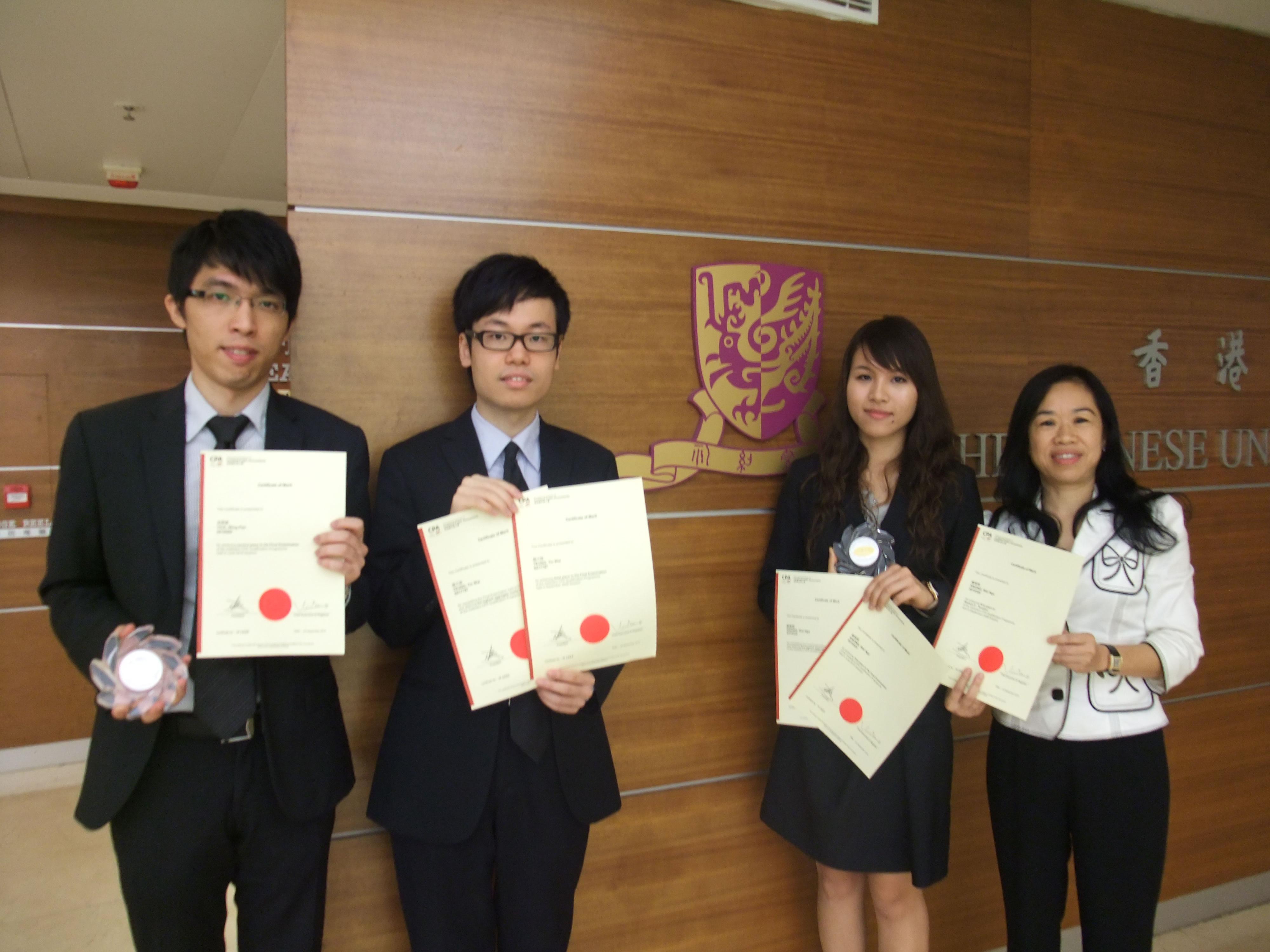 (From left) Mr. Yick Wing Pan, Mr. Yeung Tin Wai, Ms. Kwong Wai Nga and Dr. Shirley Kan, PAC Associate Program Director