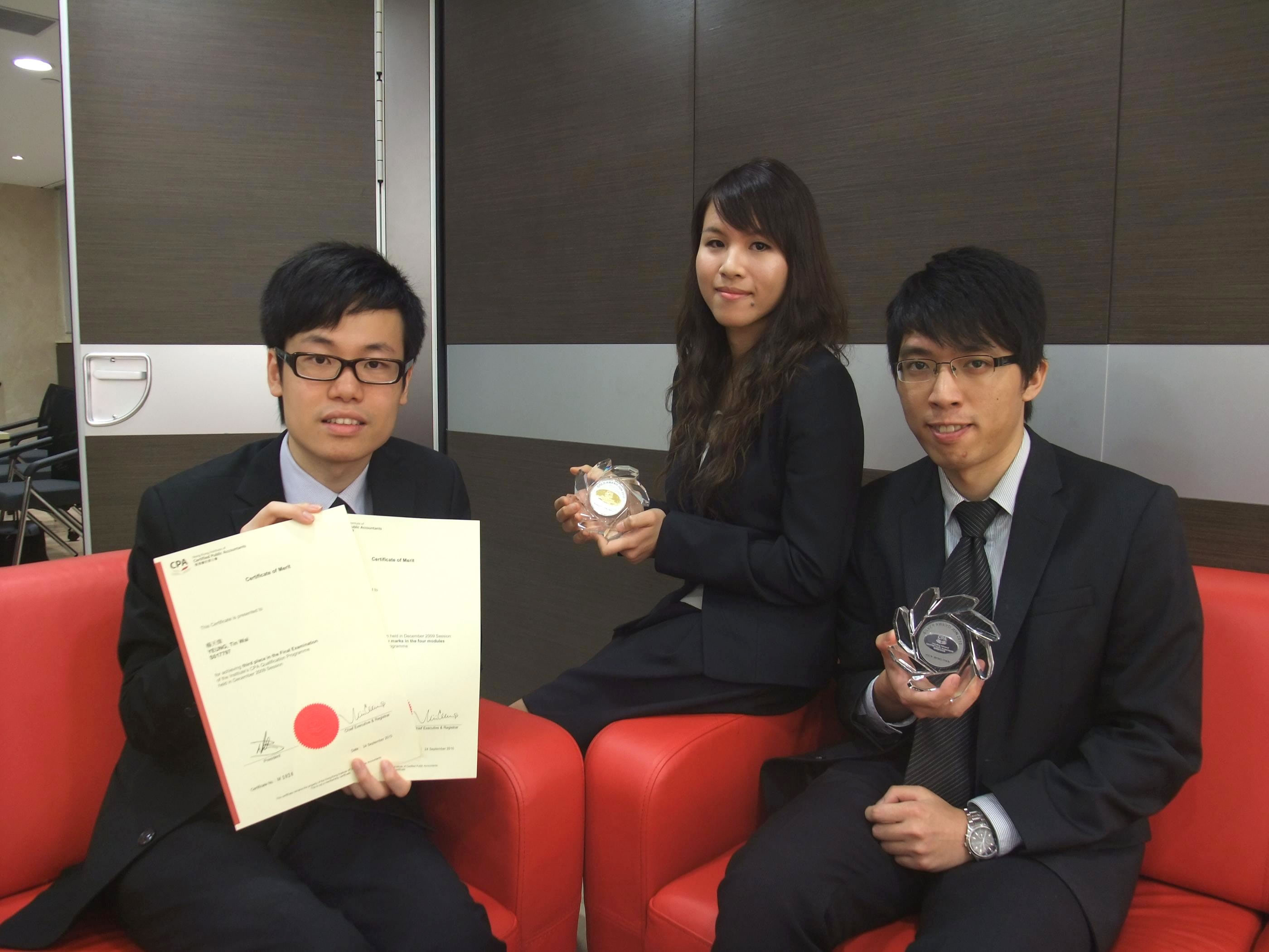 (From left) Mr. Yeung Tin Wai, Ms. Kwong Wai Nga and Mr. Yick Wing Pan