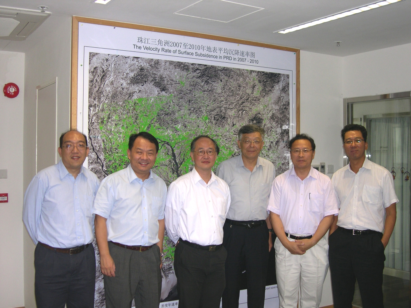 林琿教授(右二)在太空所接待王克然處長(左二)與聯合國亞太經社會訪問團