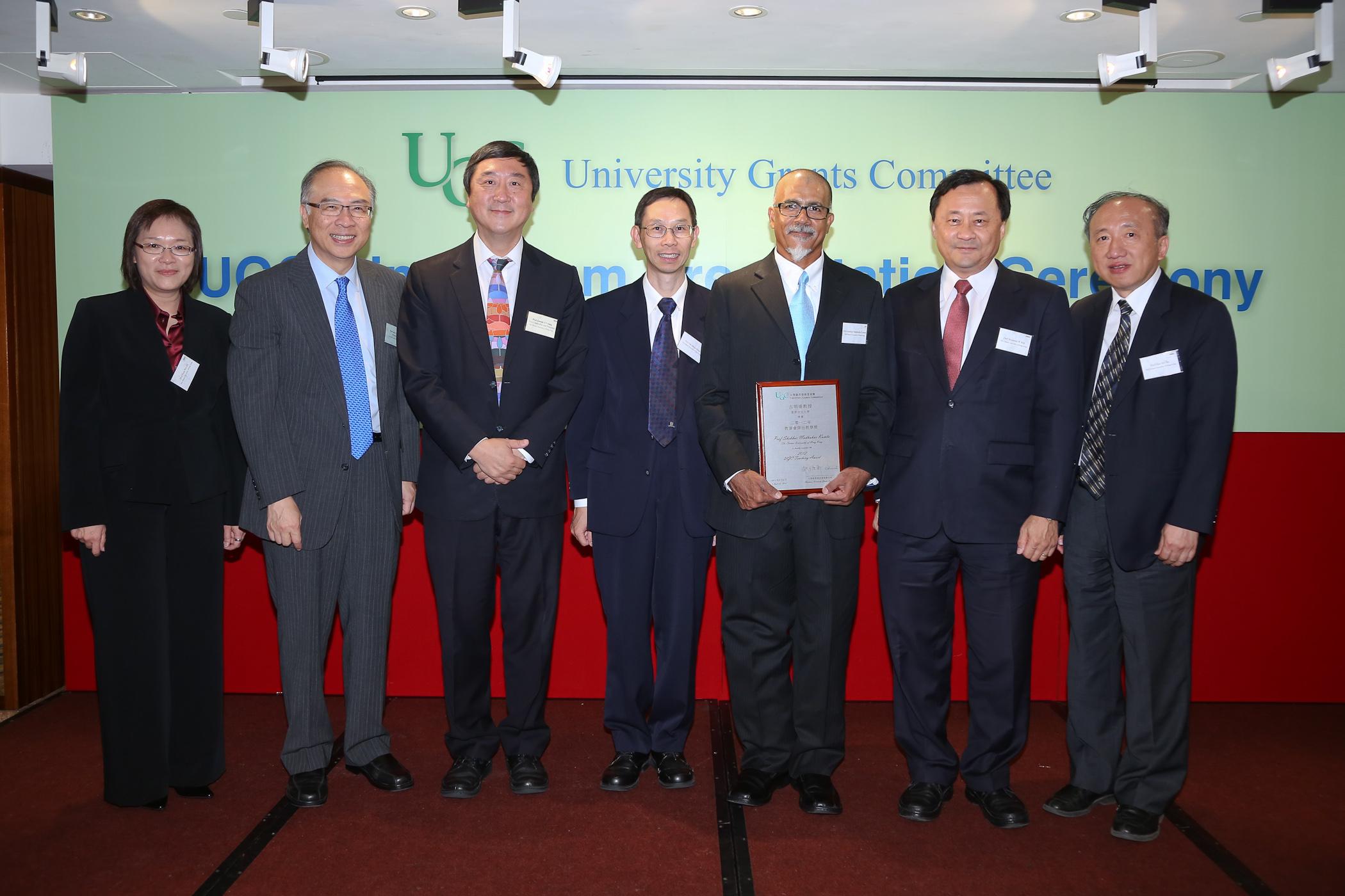 CUHK members join Prof. Joseph J.Y. Sung in congratulating Professor Kumta