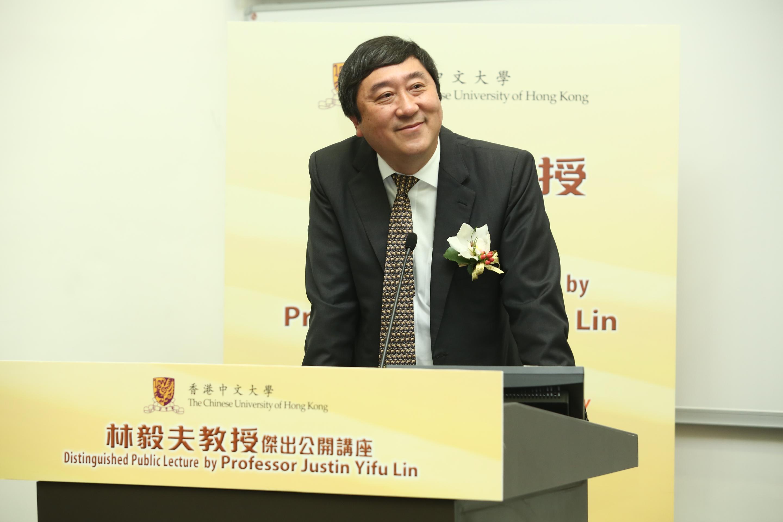 中大校長沈祖堯教授致歡迎辭。