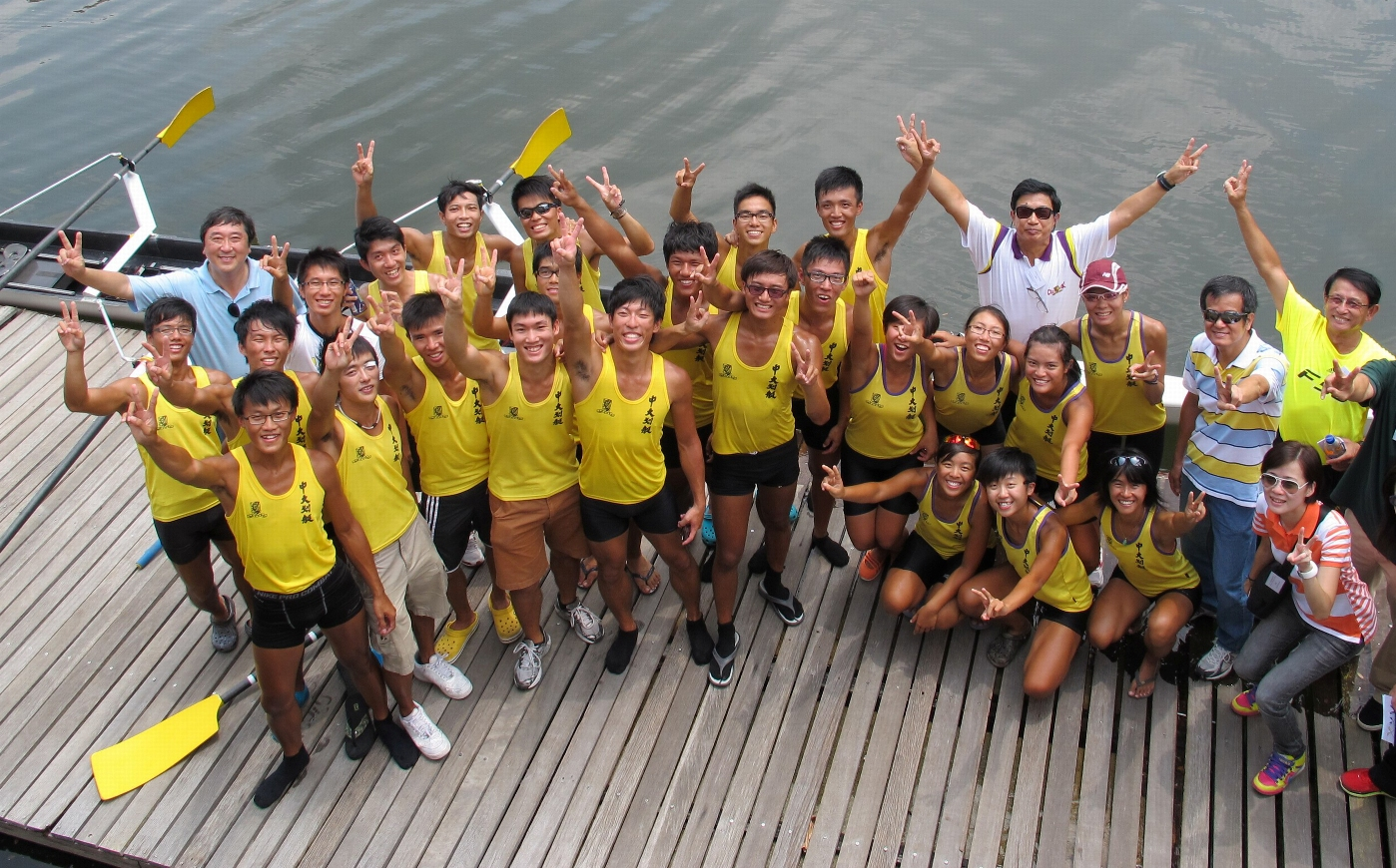 Mr. Lo Yuen-cheong with the CUHK rowing team.