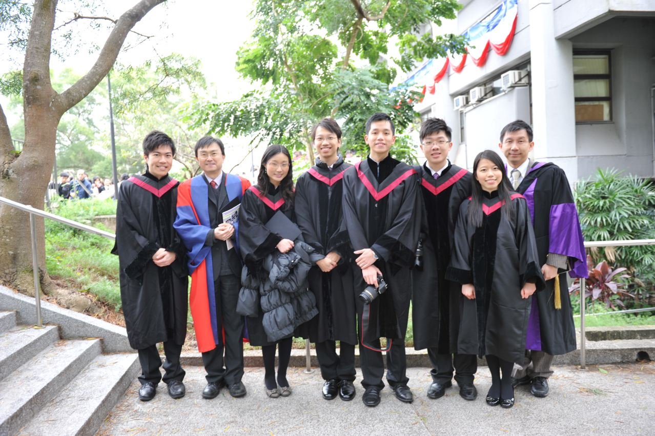 Prof. Hector Chan with medical graduates.