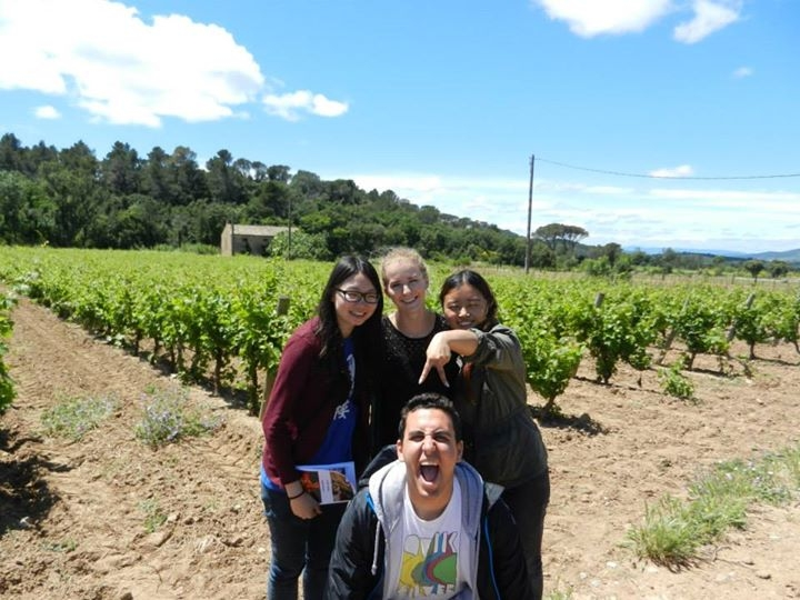 CHEUNG Miu Ling, Christine (left) was enjoying her time with her French colleagues in the chateau.