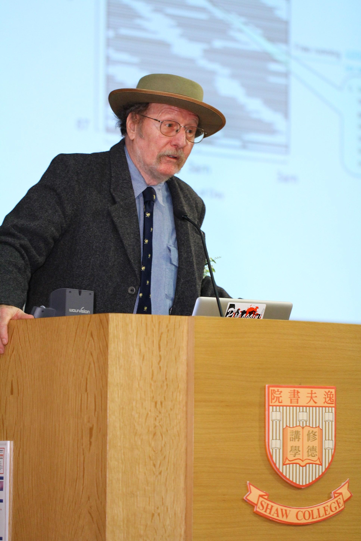 傑弗理•霍爾教授以「人皆尋夢」為題發表演說。
