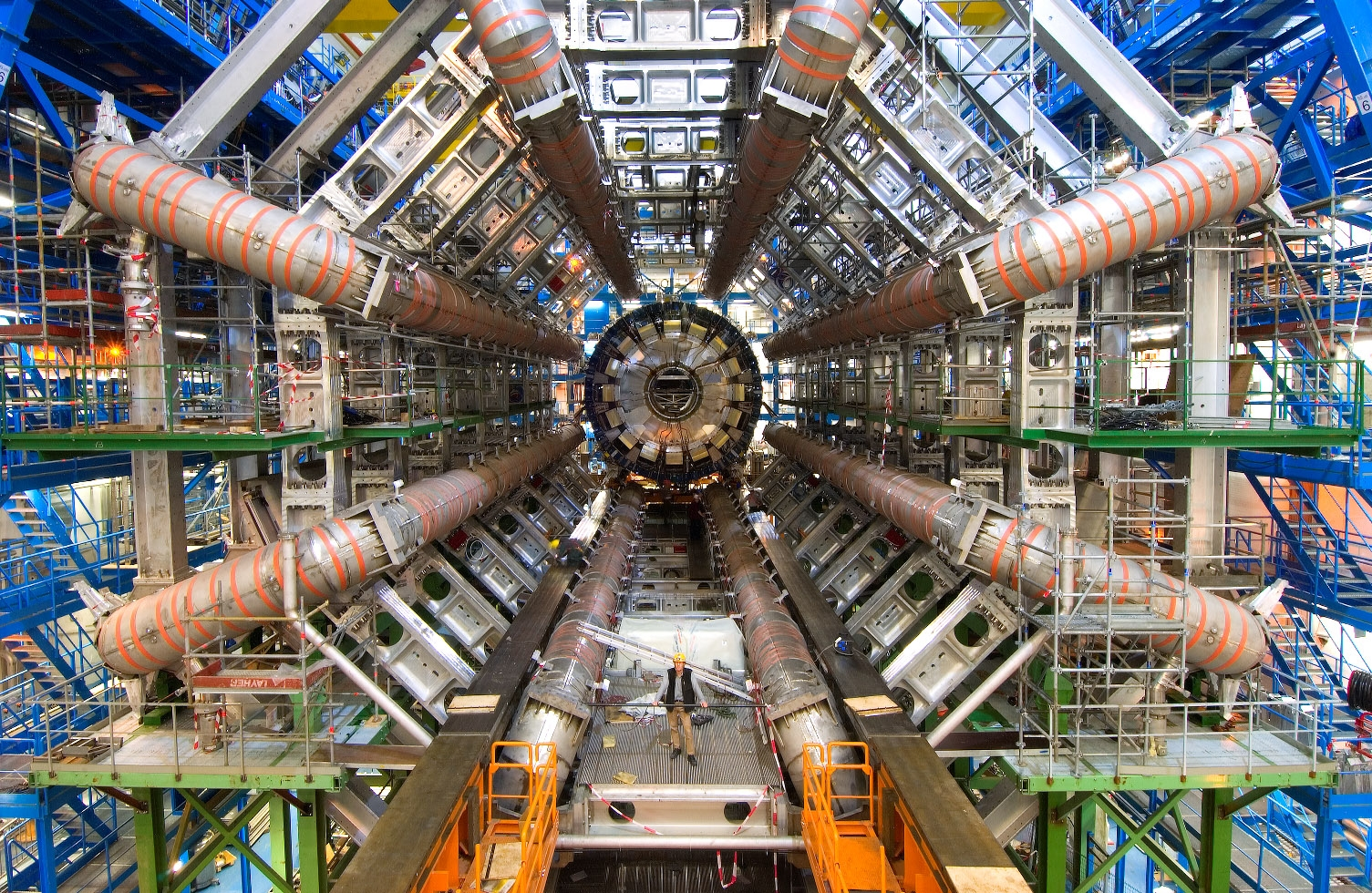 Front view of the ATLAS detector. Photo courtesy: CERN.