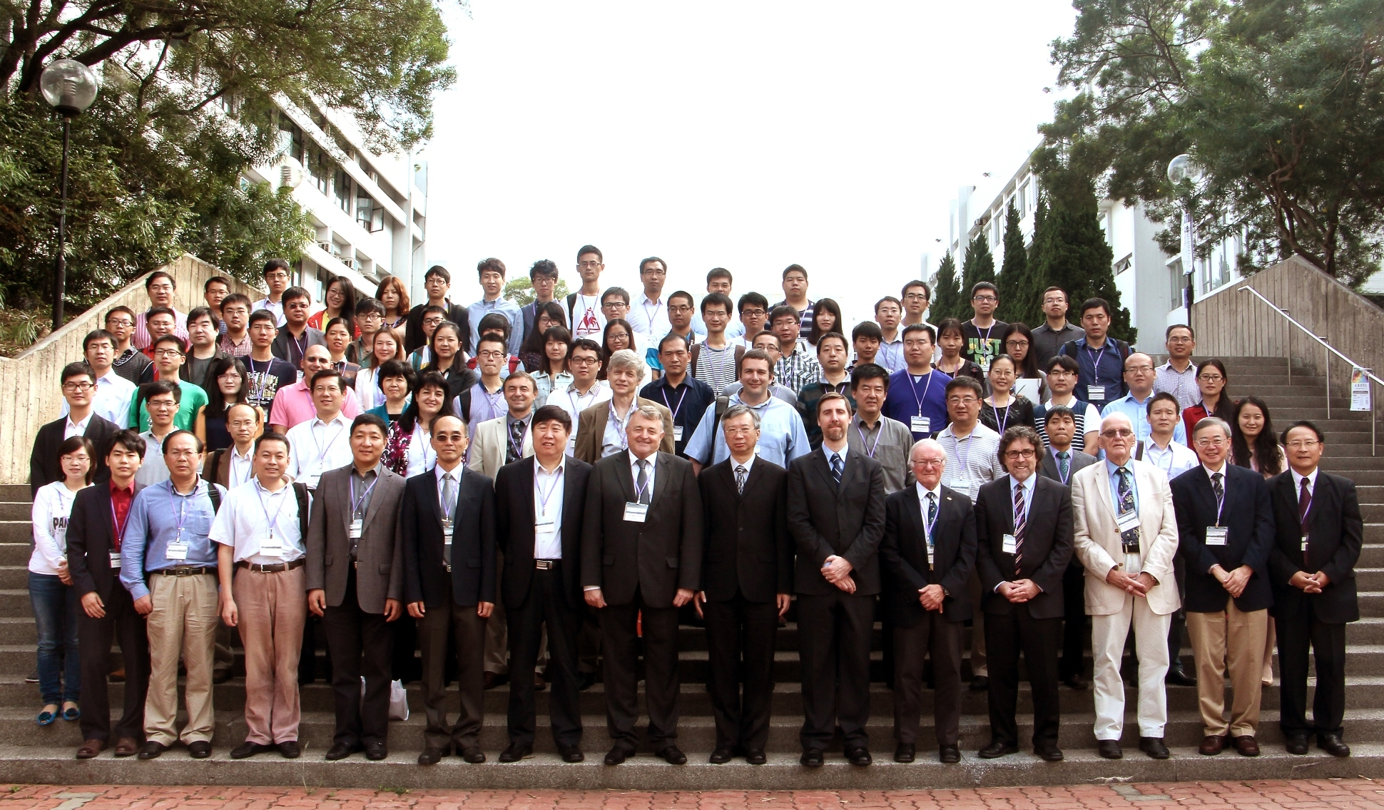 A group photo of all participants of the 'Geo-Process Modeling in VGE' International Conference