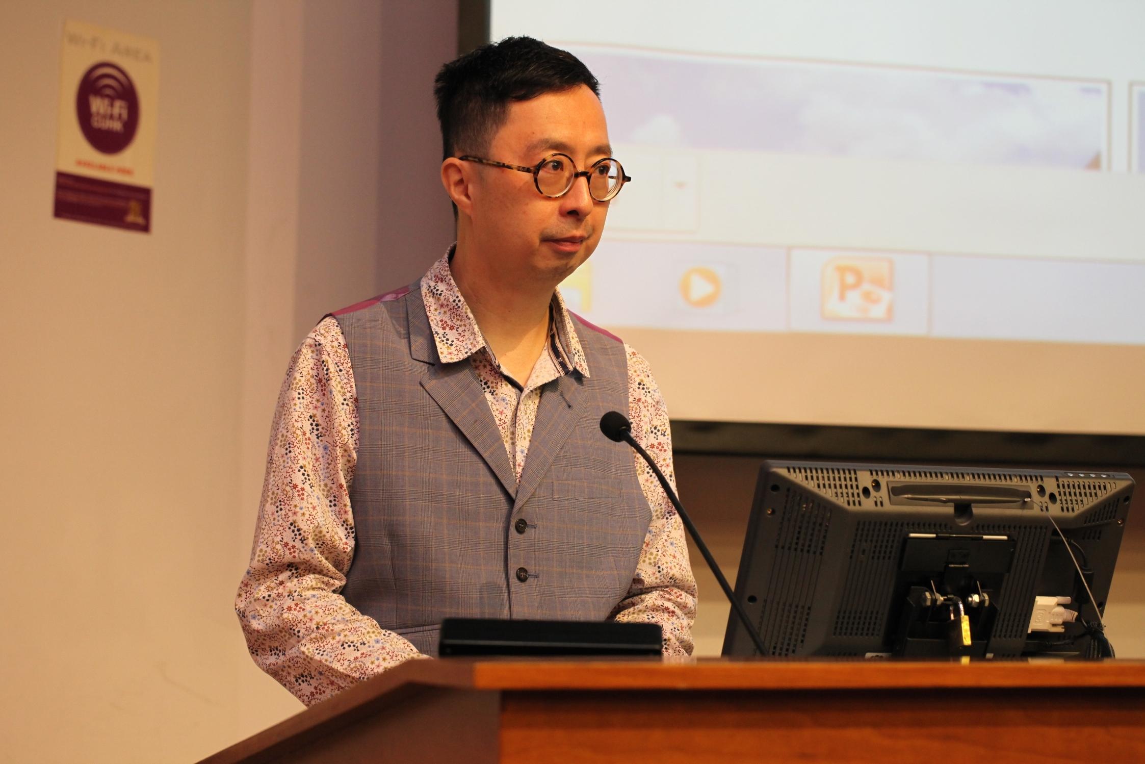 中大文化研究中心主任林松輝教授致歡迎辭。