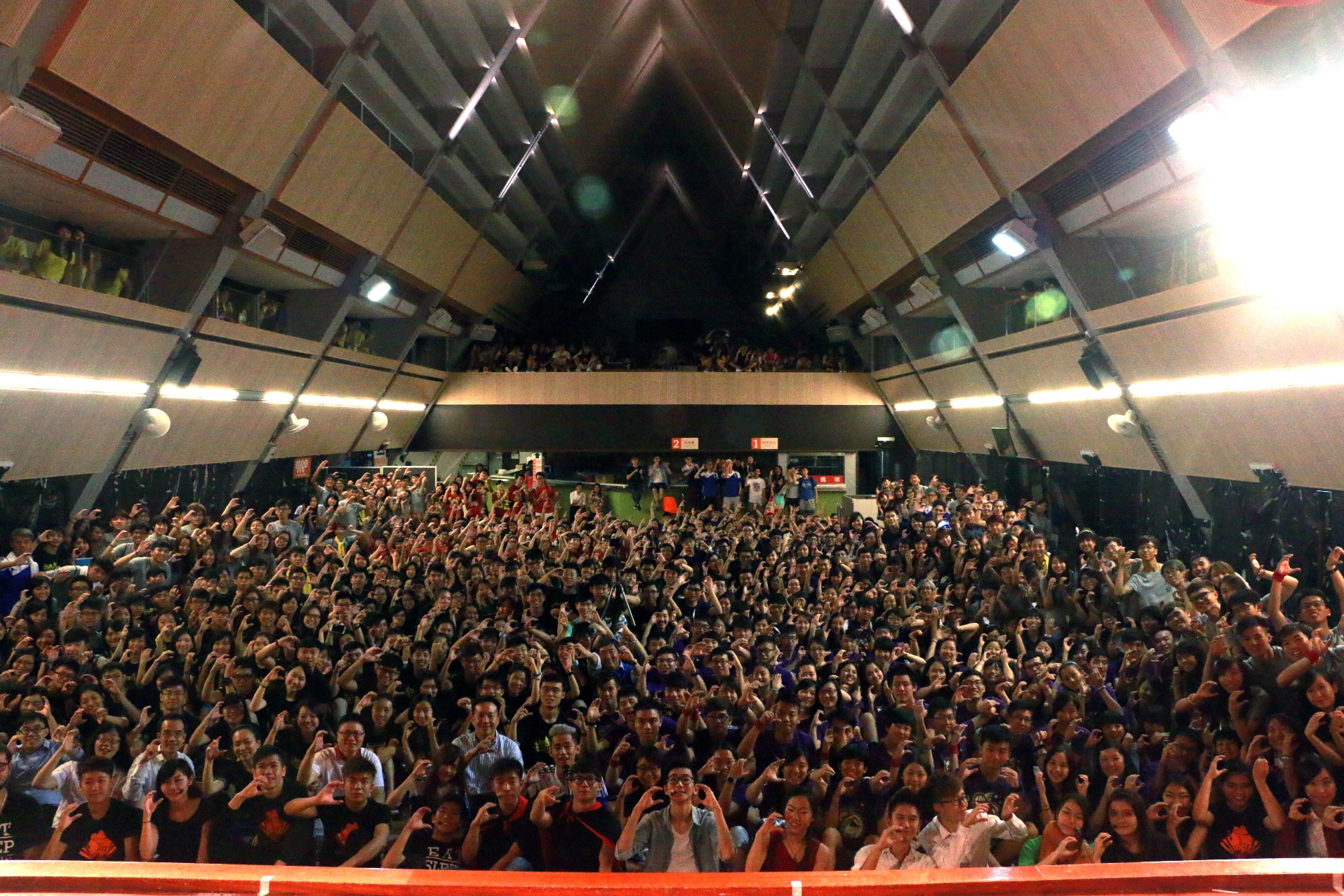 About 300 freshmen and members of Chung Chi College take part in the Orientation Night.