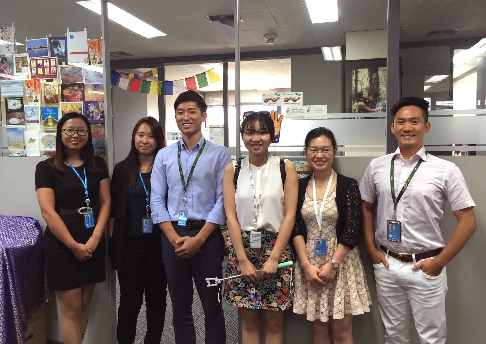 中大实习生与联合国亚太经社会UNCCD同事们合作愉快。