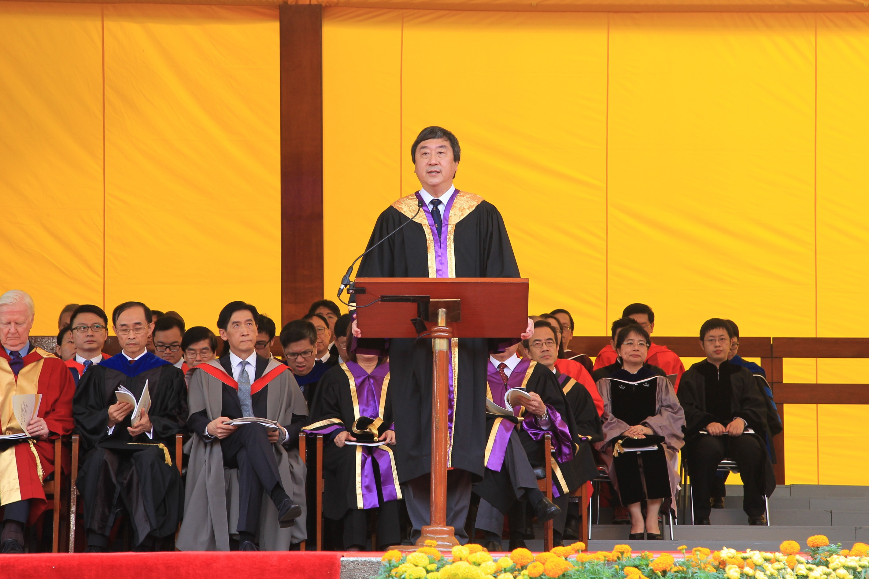 Prof. Joseph Sung, CUHK Vice-Chancellor delivers an address.