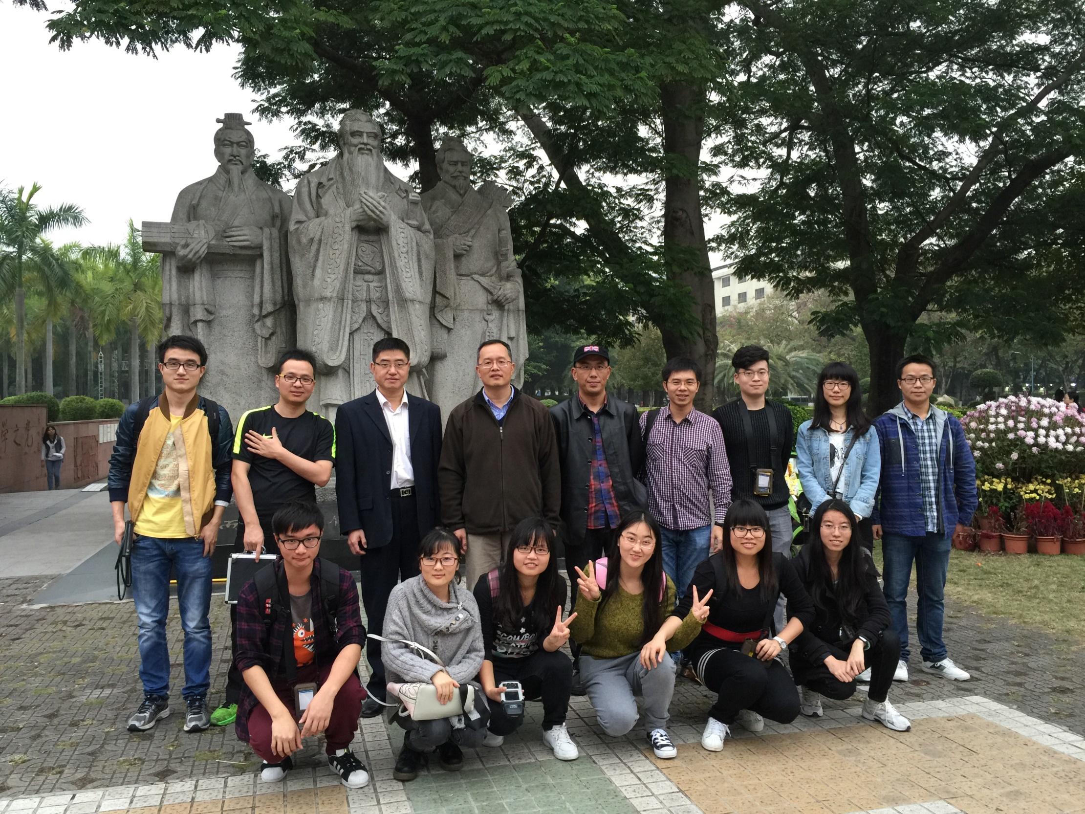 中美四校联合实验团队成员。