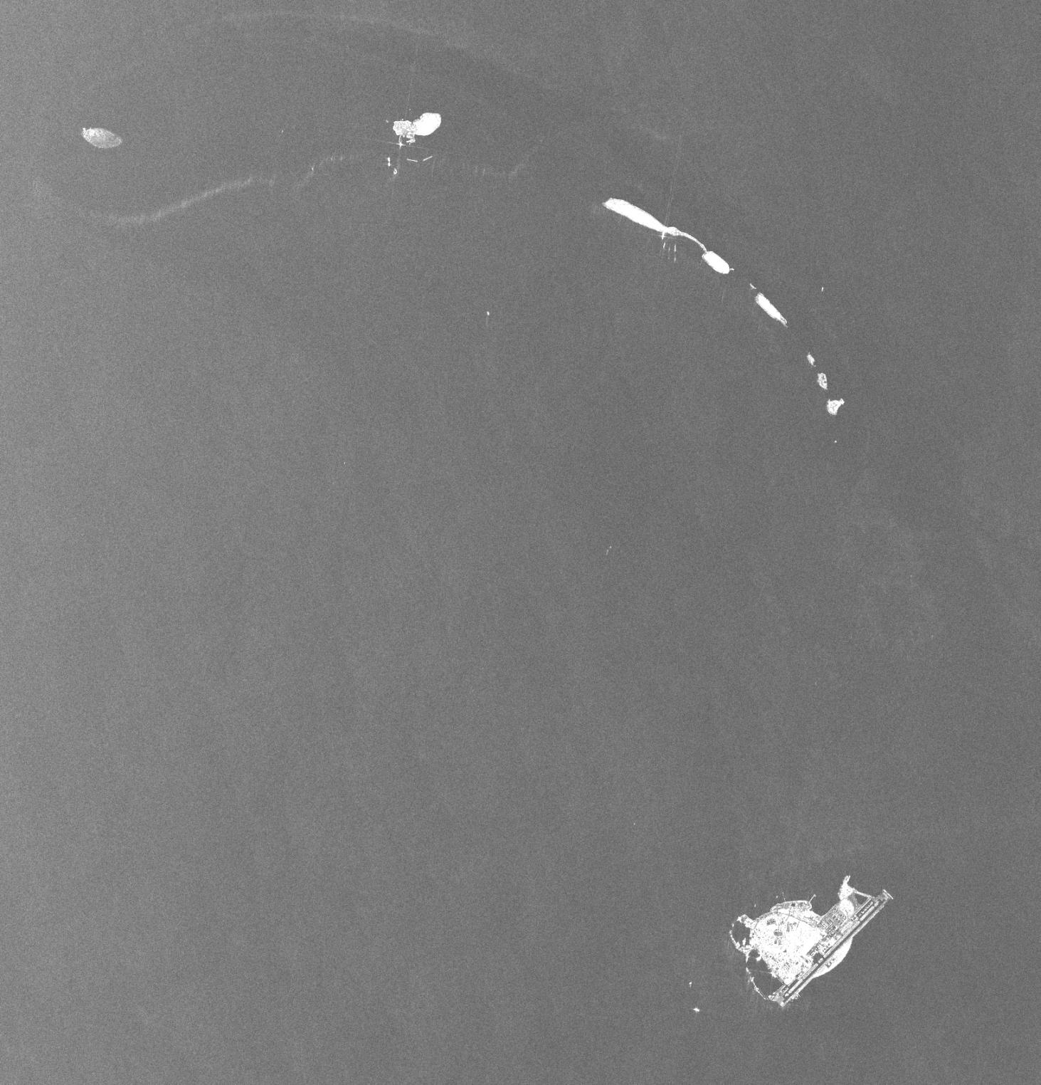 由COSMO-SkyMed衛星拍攝的三沙市影像。