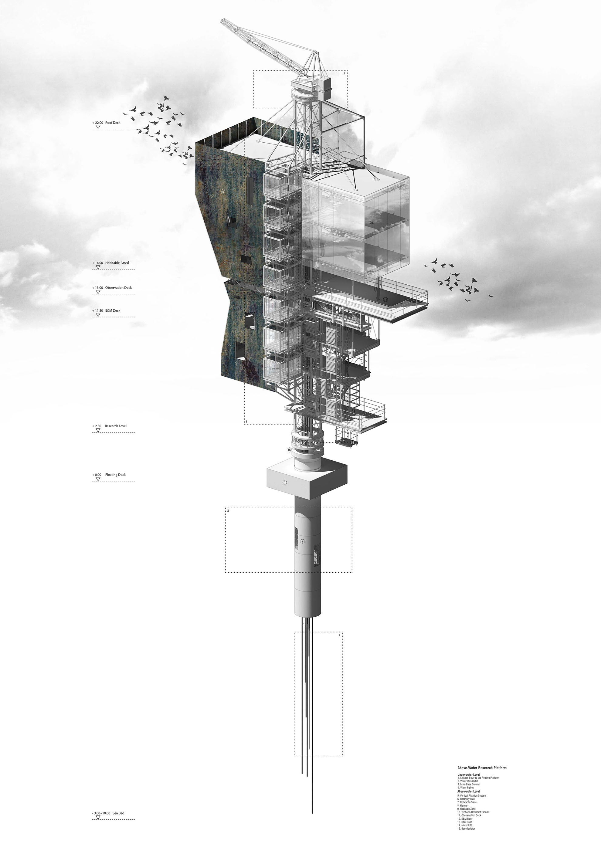 Tang Jieliang's project – 'Land-water Co-habitation – Architecture for Nearshore Development in Relation to Climate Change'