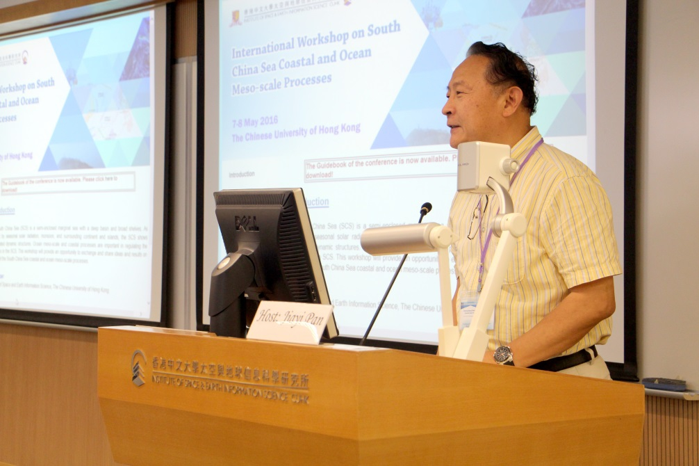 Prof. Lin Hui, Director of the Institute of Space and Earth Information Science, CUHK delivers a welcome speech.
