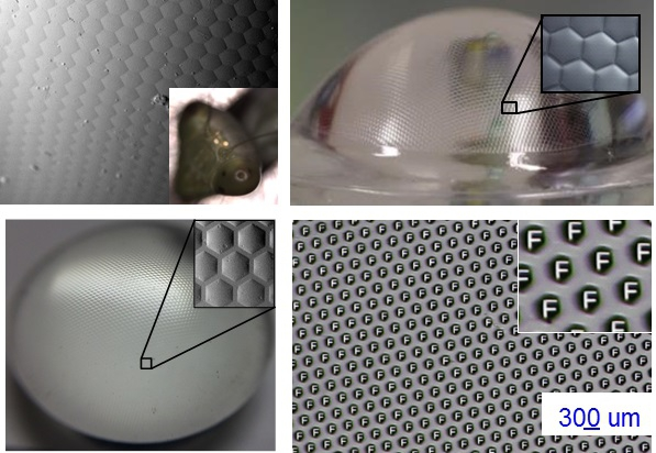 A multi-layer artificial compound eye with multispectral imaging function can be fabricated using the vacuum nanoimprinting system.