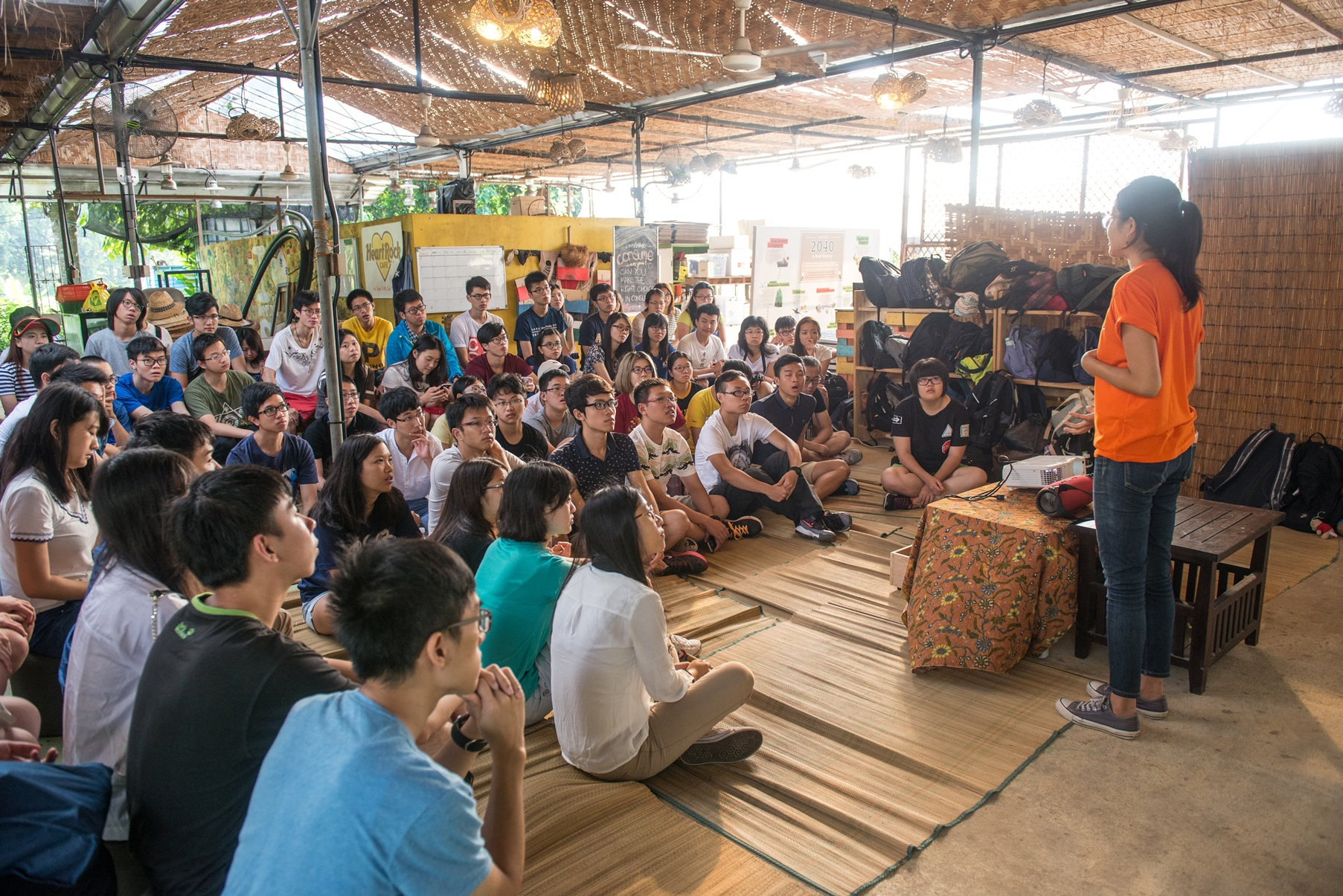 Participants visit the Ground-up Initiative, a green NGO of Singapore.