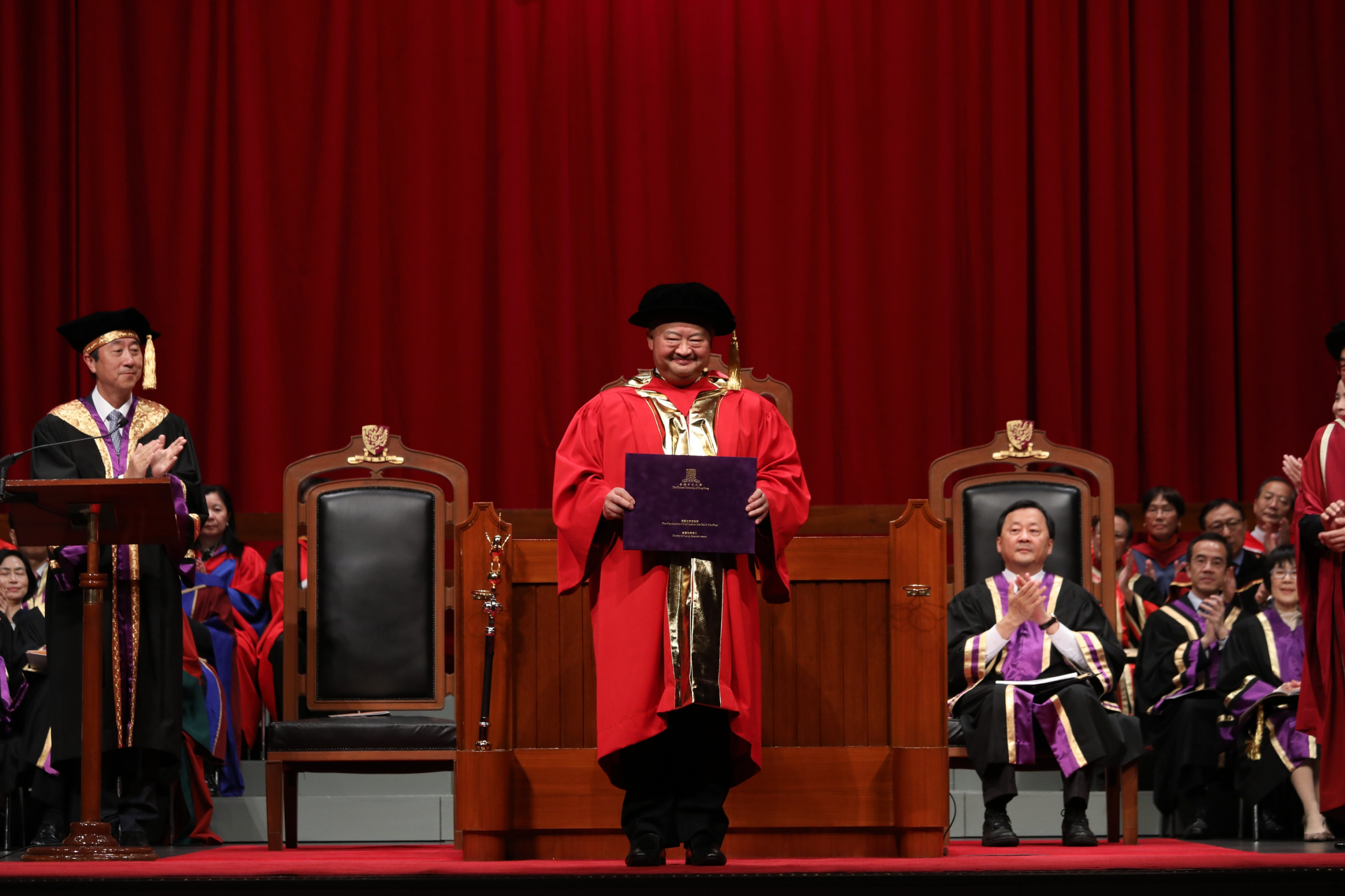 The Honourable Chief Justice Ma Tao-li, Geoffrey receives the degree of Doctor of Laws, honoris causa.