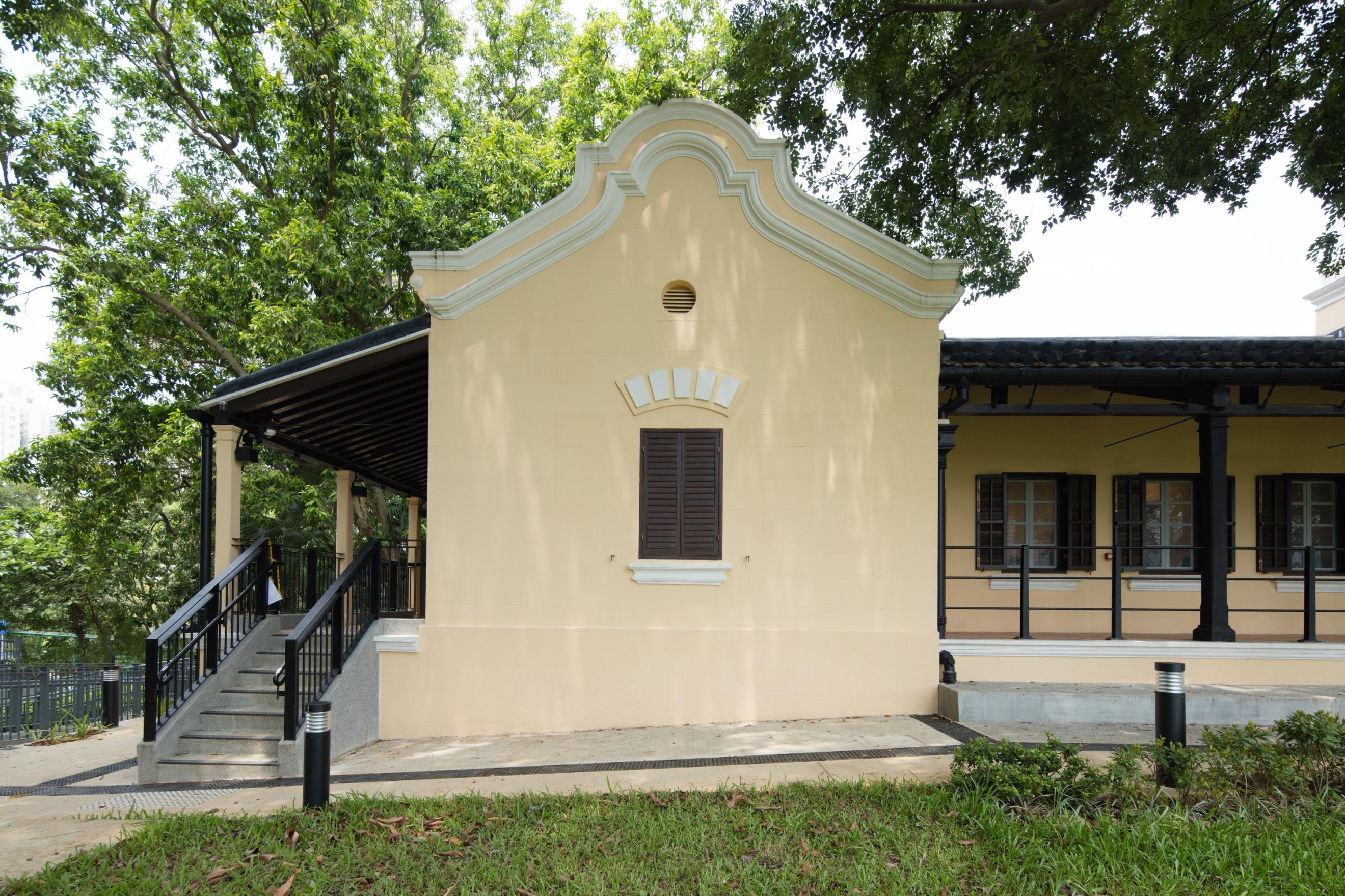 中大保育顧問團隊在設計方案中保存舊大埔警署原有建築特色,如中式金字屋頂、荷蘭式山牆等。