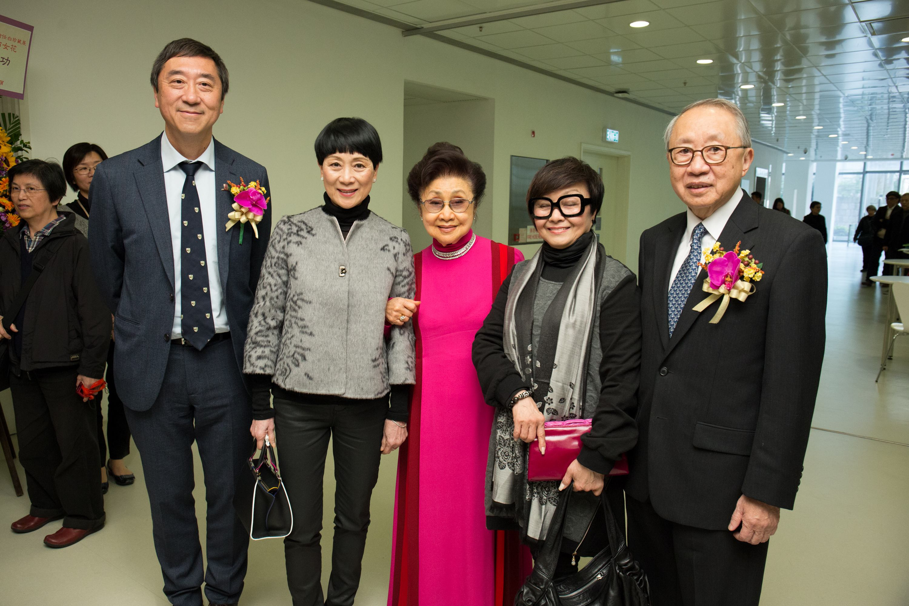 The opening ceremony of the Exhibition from CUHK Library's of Yam Pak Collection.