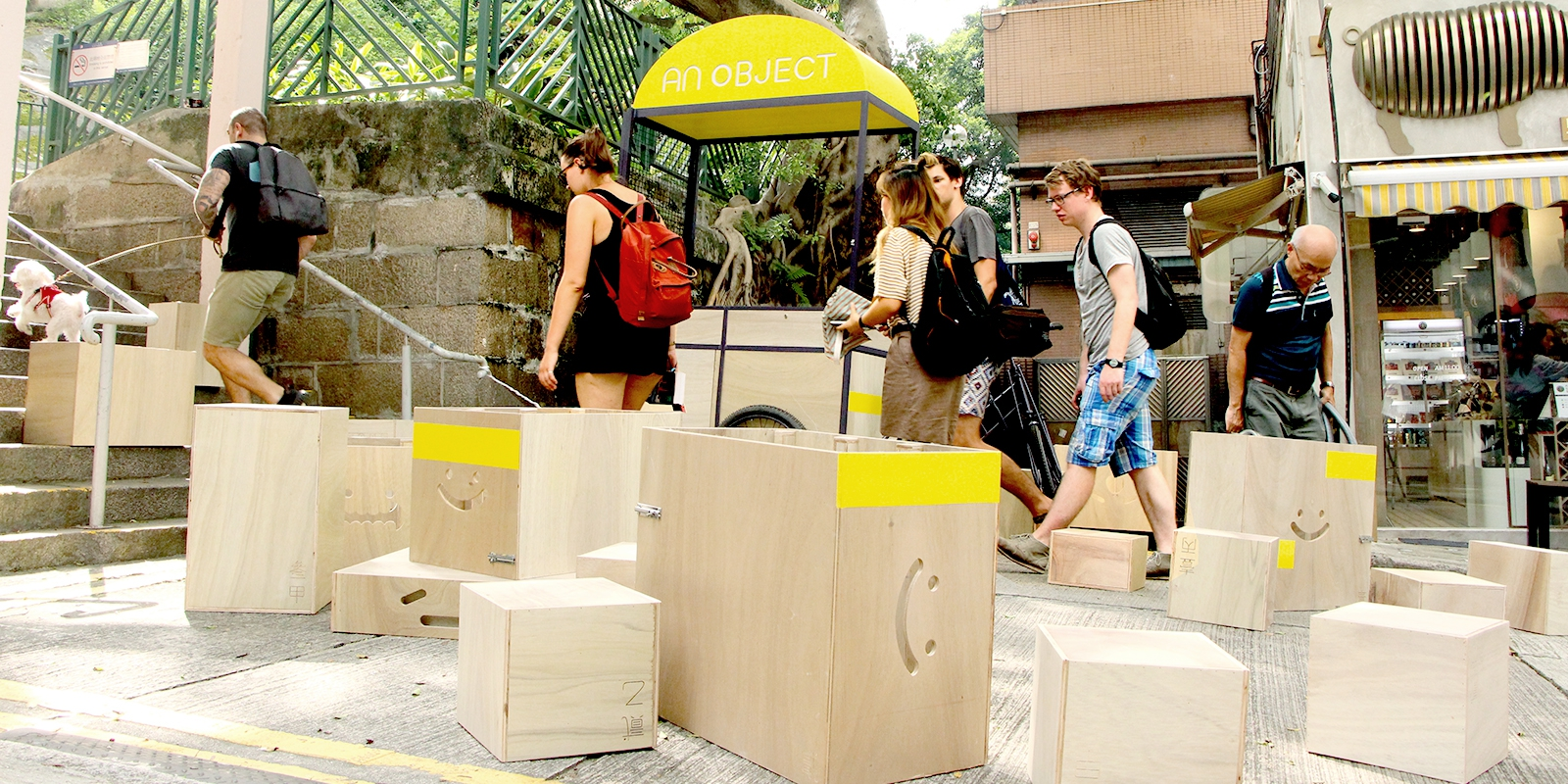 Selected Exhibit: An Object  Sarah Mui (BSSc 2006) Re-envision public space by using mobile furniture parts to create different scenarios on the street.
