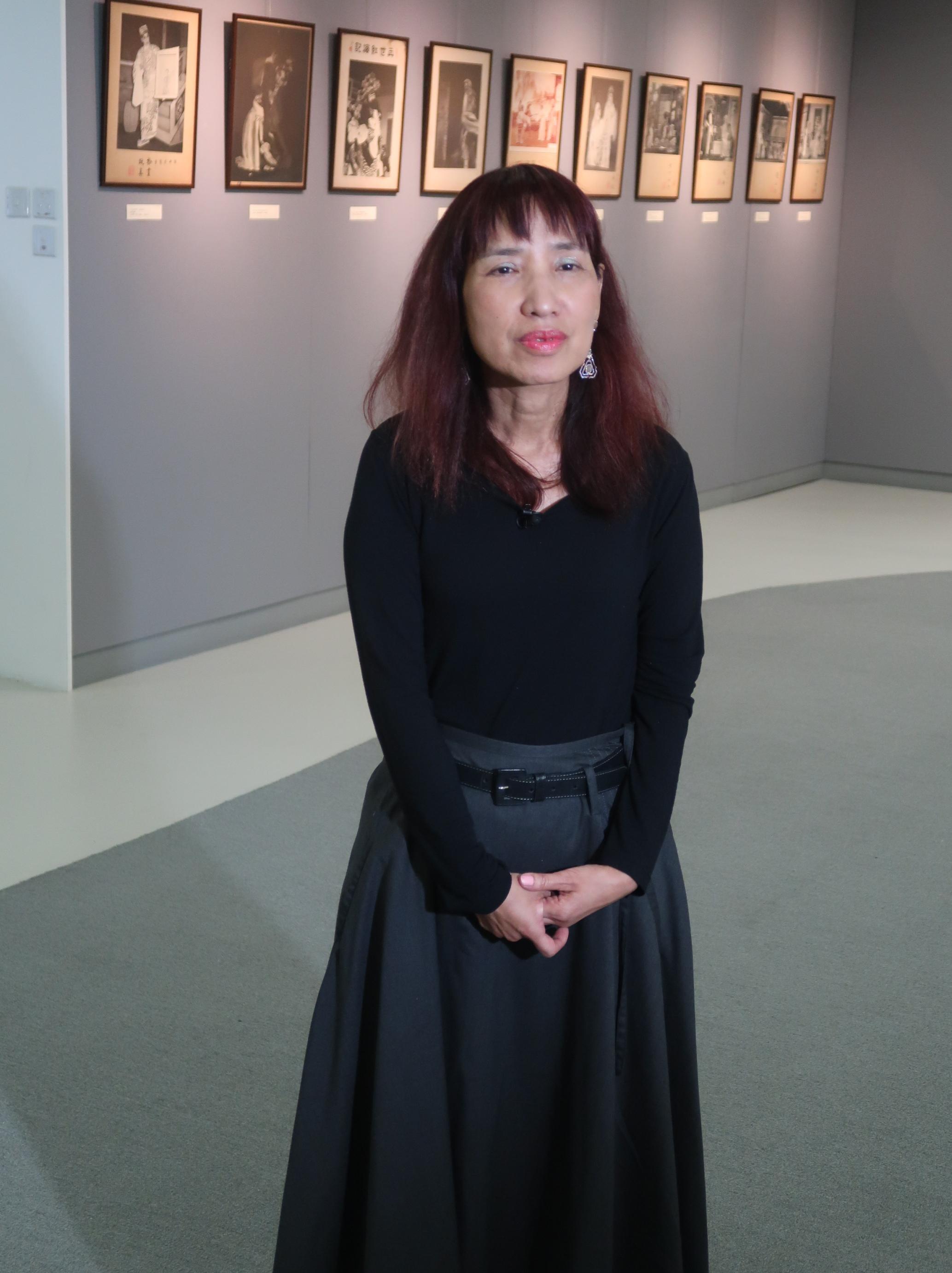 「九十風華帝女花」策展人黃秀蓮女士。