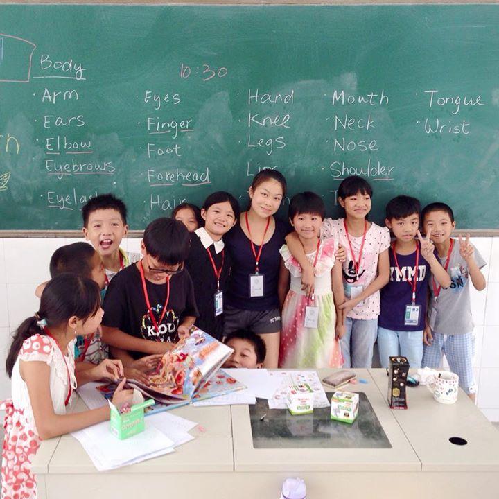 马鸣茵同学于福建一所小学义教。