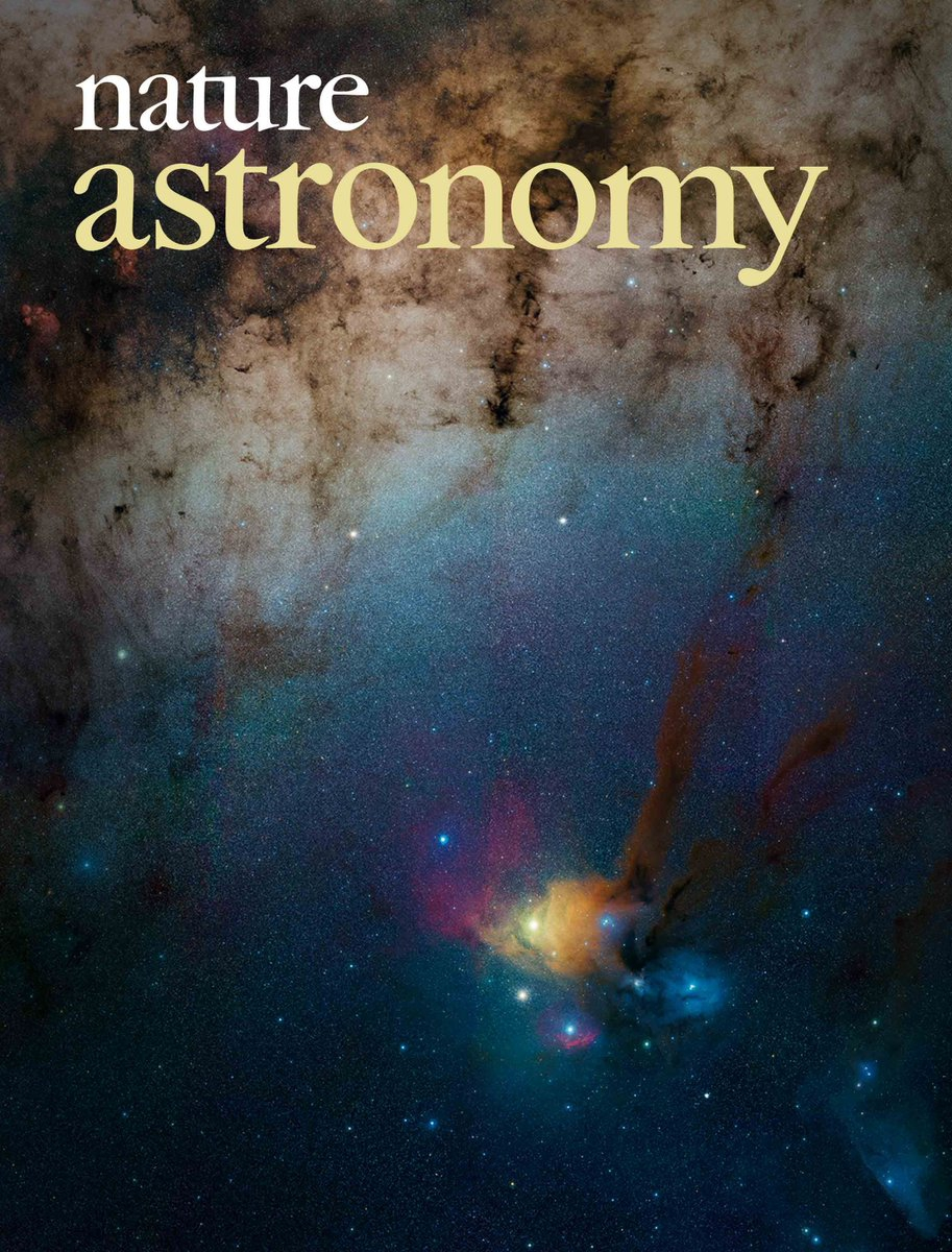 Prof. Hua-bai Li's research makes cover story in the August issue of Nature Astronomy. (Image credits: ESO/Stéphane Guisard and Nature Astronomy)