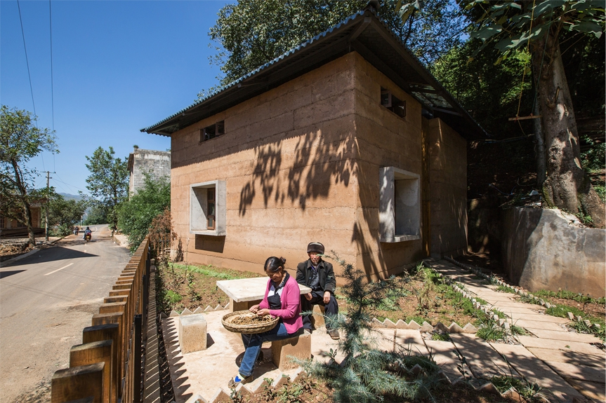 The CUHK team built a prototype house for an aged couple with innovative rammed-earth building system.