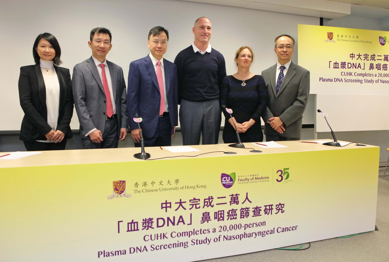 研究團隊成員與GRAIL公司總裁Dr Ken DRAZAN (右三) 合照。