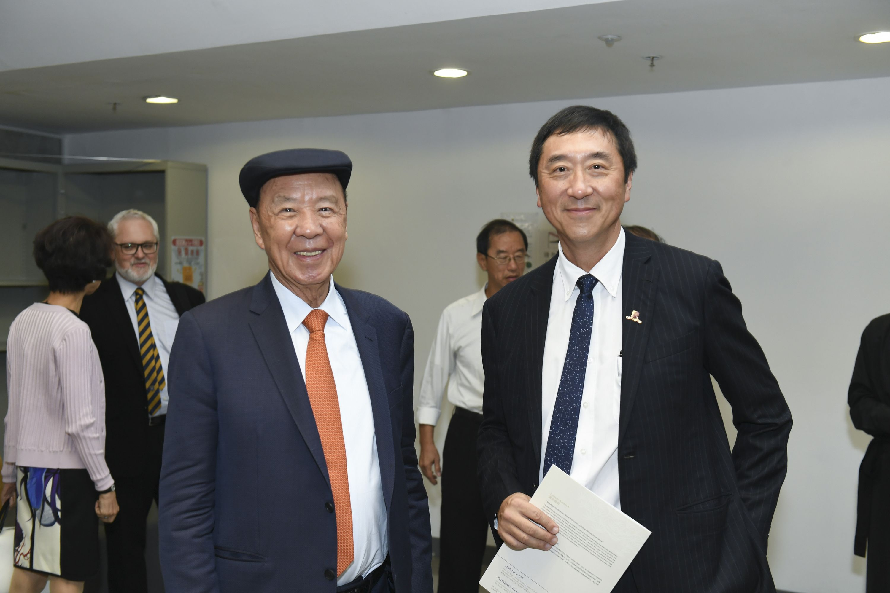 Dr. Lui Che Woo, Founder, LUI Che Woo Prize – Prize for World Civilisation and Prof. Joseph Sung, Vice-Chancellor and President, The Chinese University of Hong Kong.