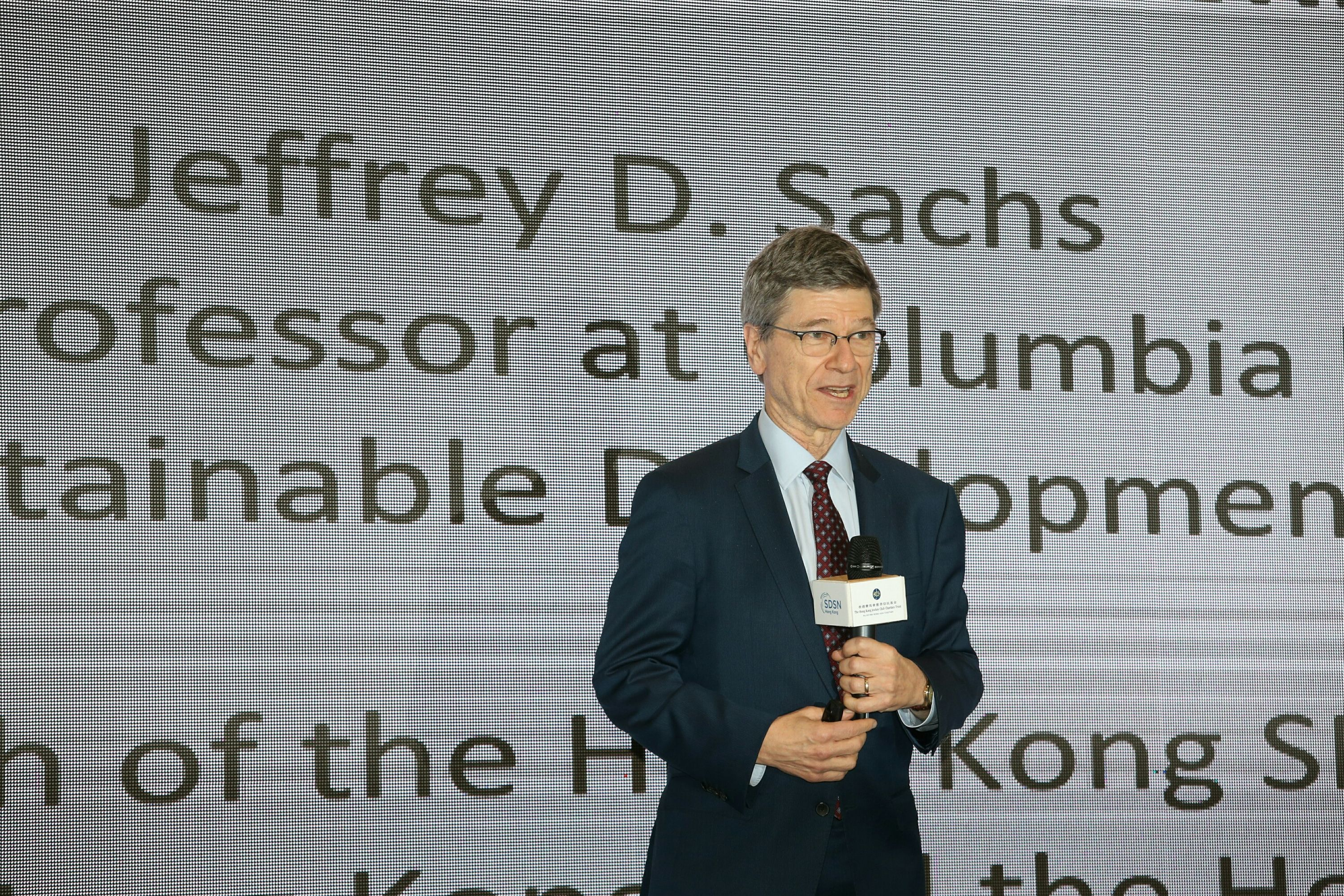 The event climaxed in the keynote speech by Professor Sachs.