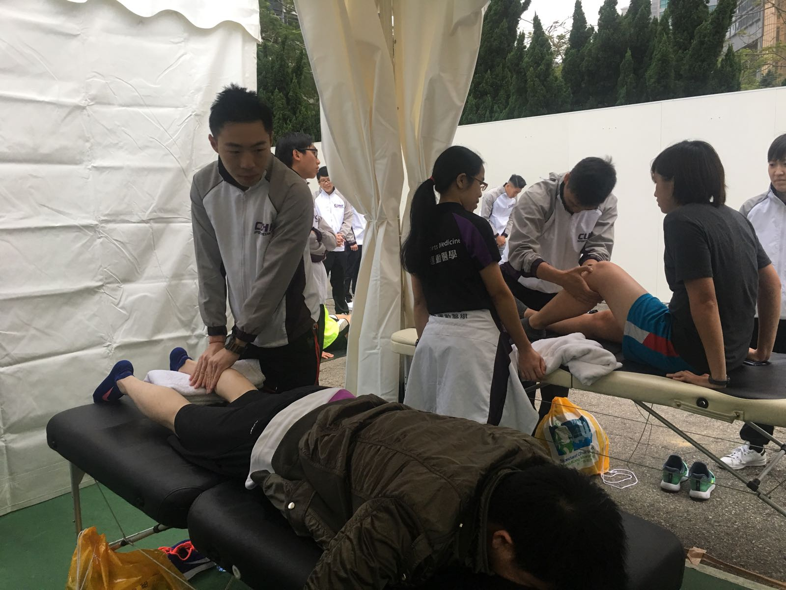 On-field physiotherapy service provided by the CUHK Sports Medicine Team