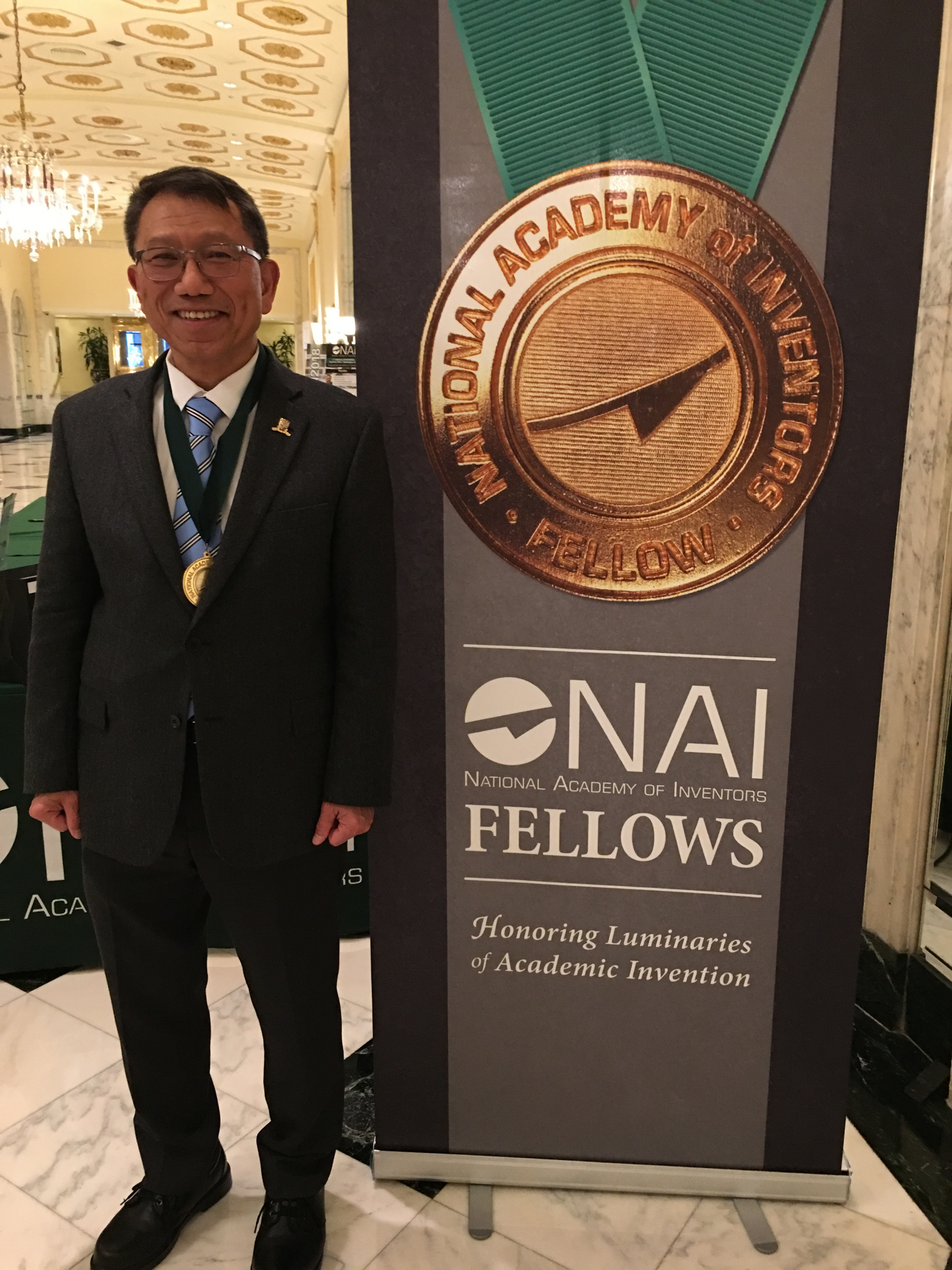 Professor Rocky S. Tuan, Vice-Chancellor and President of CUHK, Lee Quo Wei and Lee Yick Hoi Lun Professor of Tissue Engineering and Regenerative Medicine, was inducted as a Fellow into the National Academy of Inventors (NAI) in recognition of his prolific spirit of innovation in creating and facilitating outstanding inventions that have made a tangible impact on the quality of life, economic development and the welfare of society