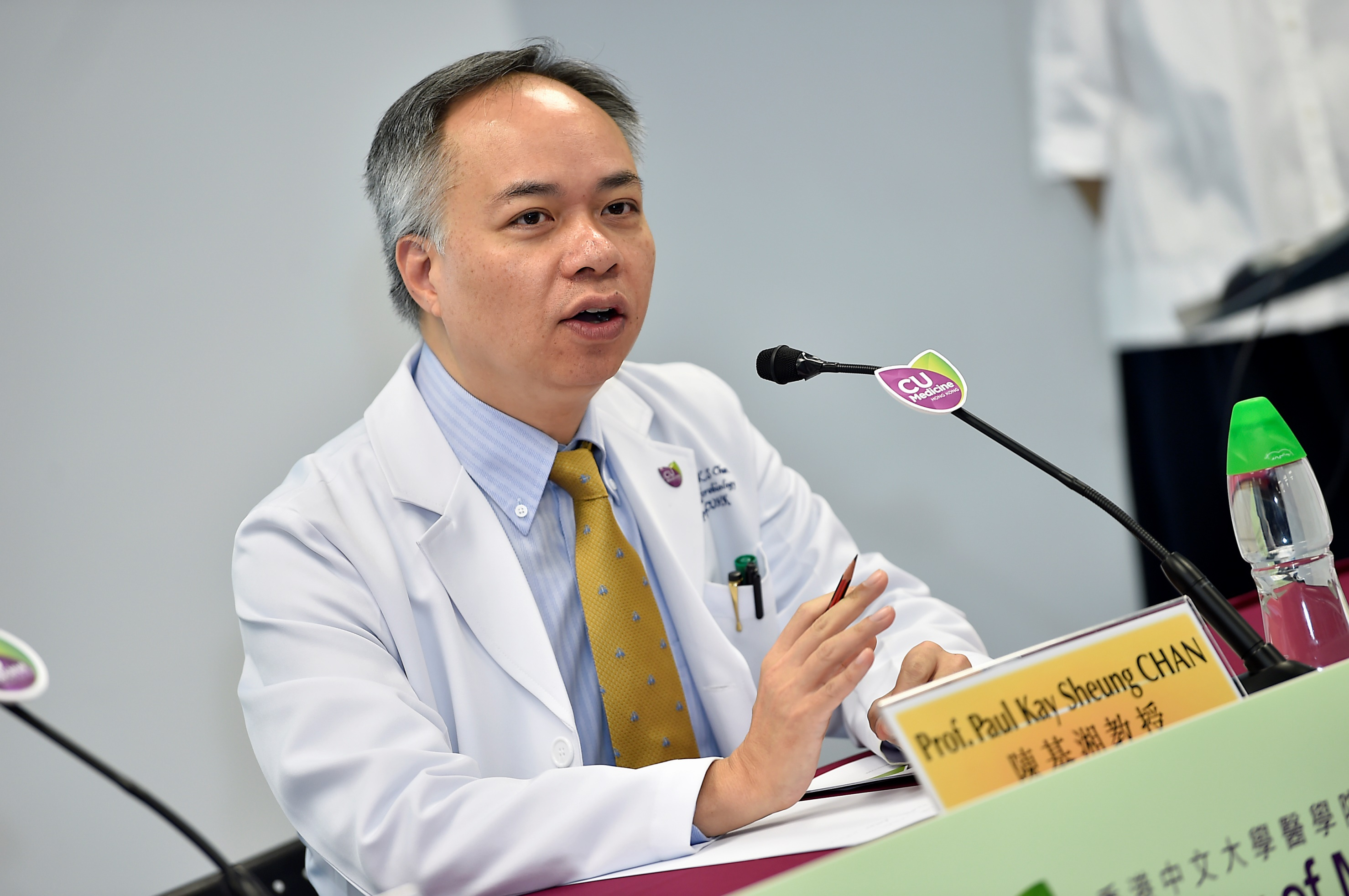 Professor Paul CHAN emphasises that the health requirements on stool donors are stricter than those for blood or organ donors.