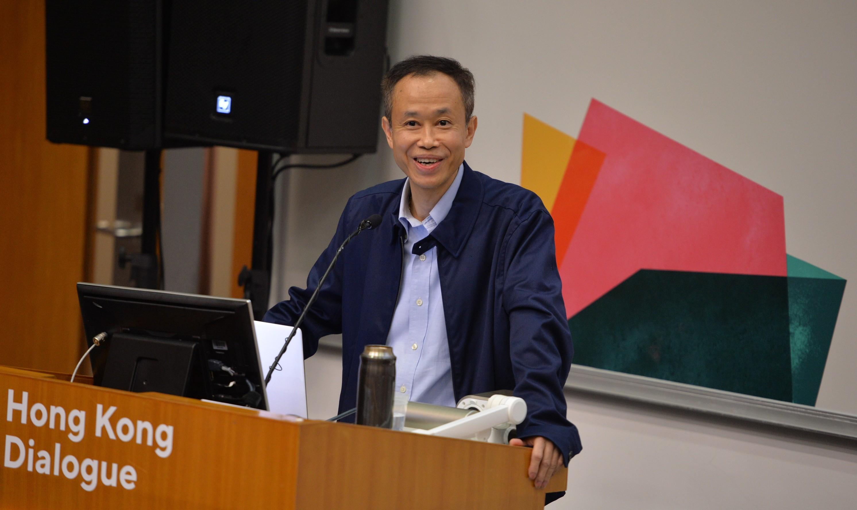 中大政治與行政學系系主任盧永鴻教授發表主題演講。