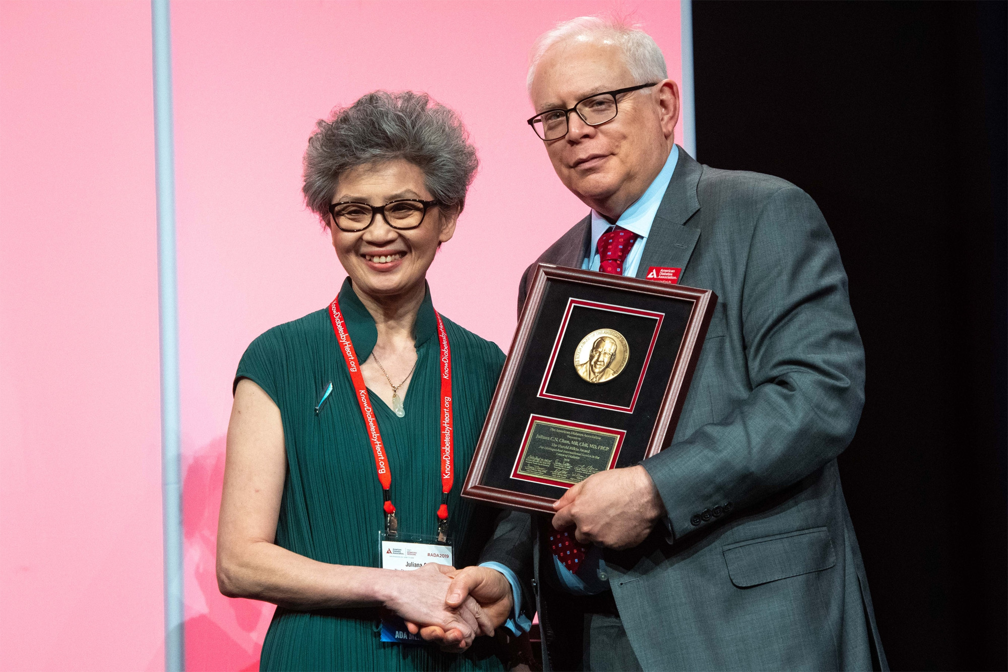 The award honours Professor Chan's outstanding performance in research, evaluation and care in the field of diabetes from a global perspective and with an international impact.