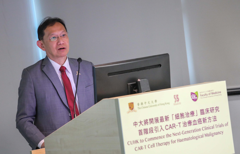 中大协理副校长(创新及企业)李康善博士预计,中大将发展CAR-T细胞治疗而设的实验室,预计于2020年落成,并于取得GMP认证后正式展开相关临床研究项目。