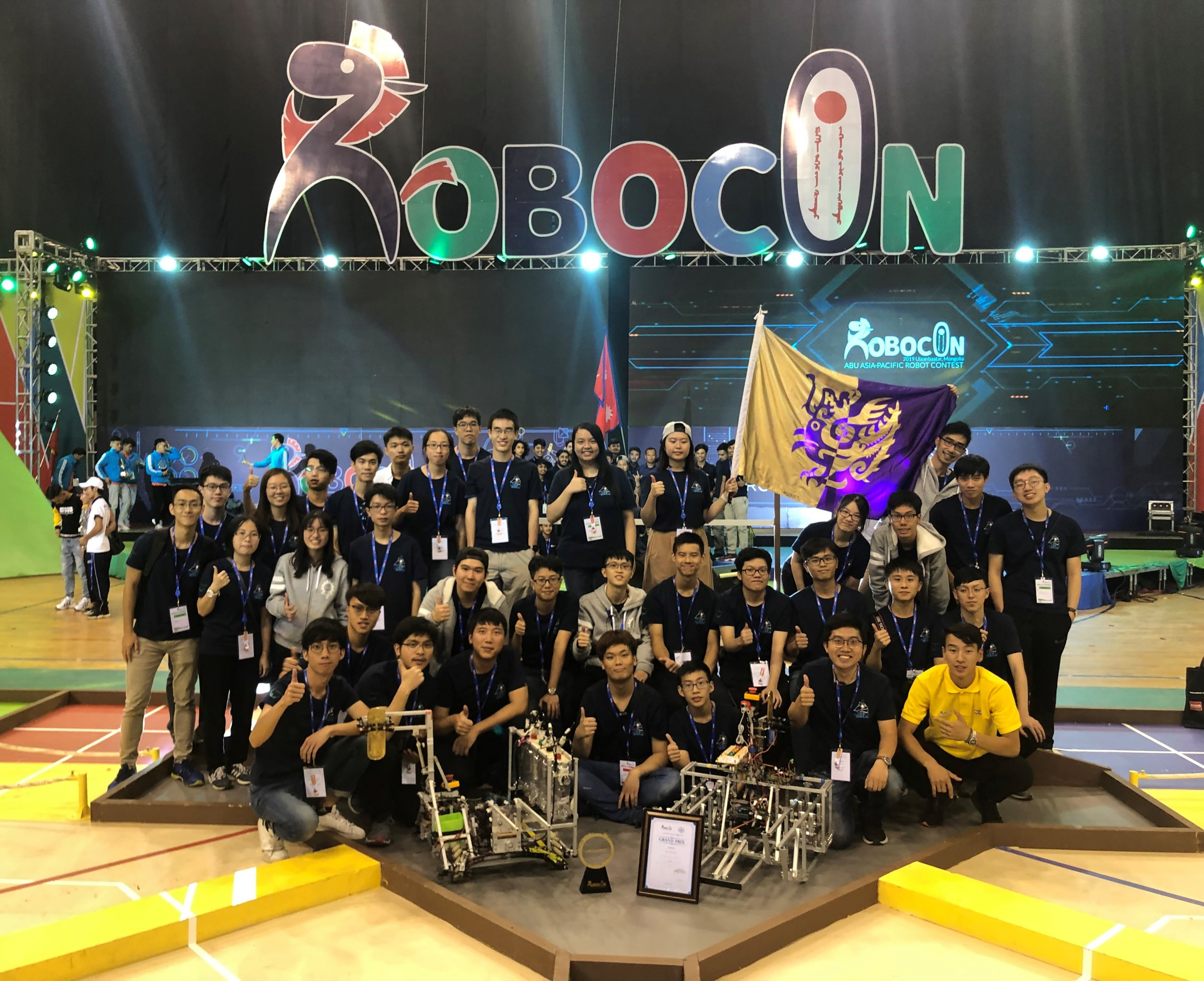 CUHK Robotic team made history by becoming the first team from Hong Kong winning the Asia-Pacific Robot Contest.