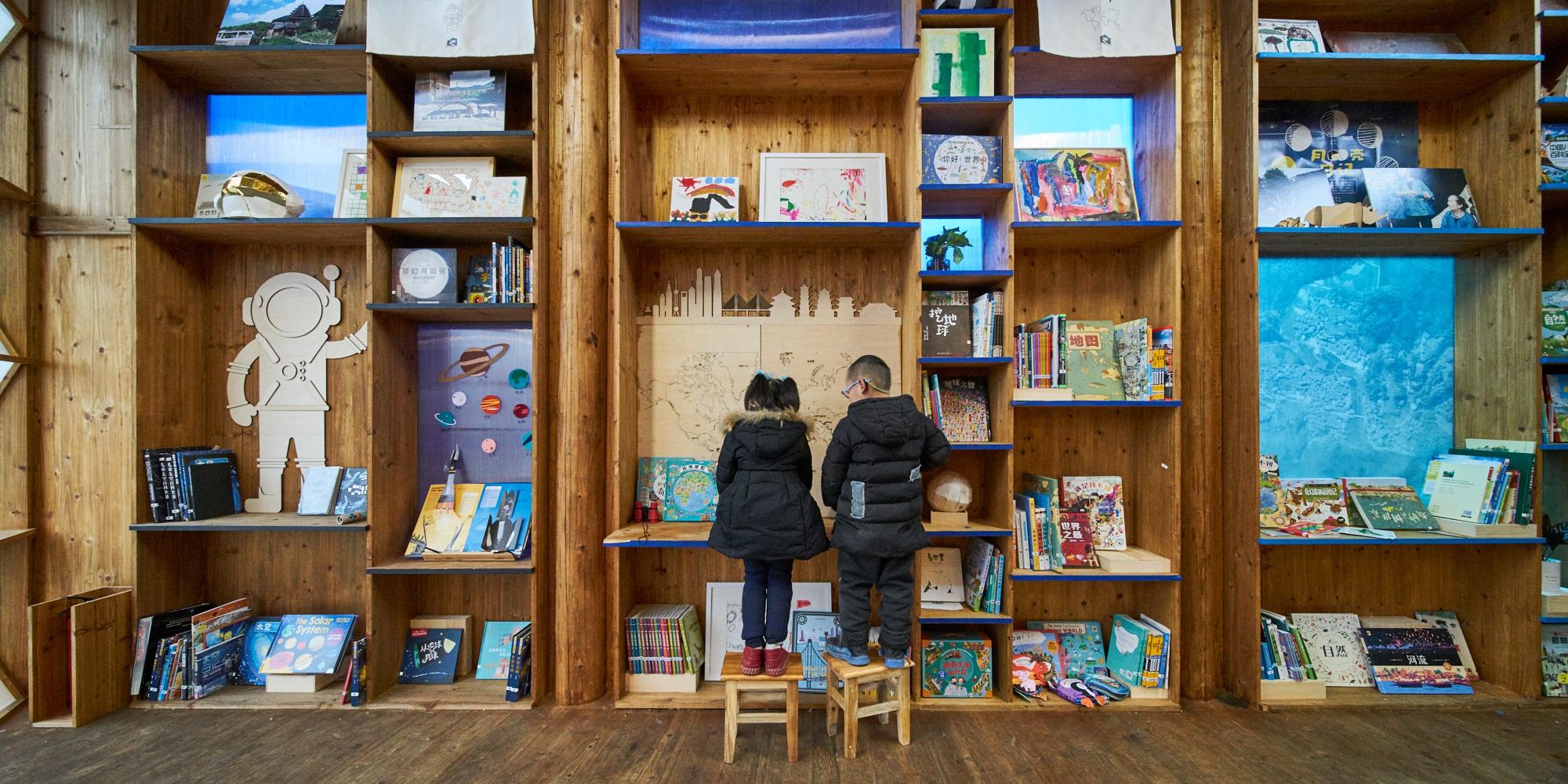與一般圖書館鼓勵靜態閱讀不同,書屋加入趣味和互動元素,希望吸引孩子聚集。