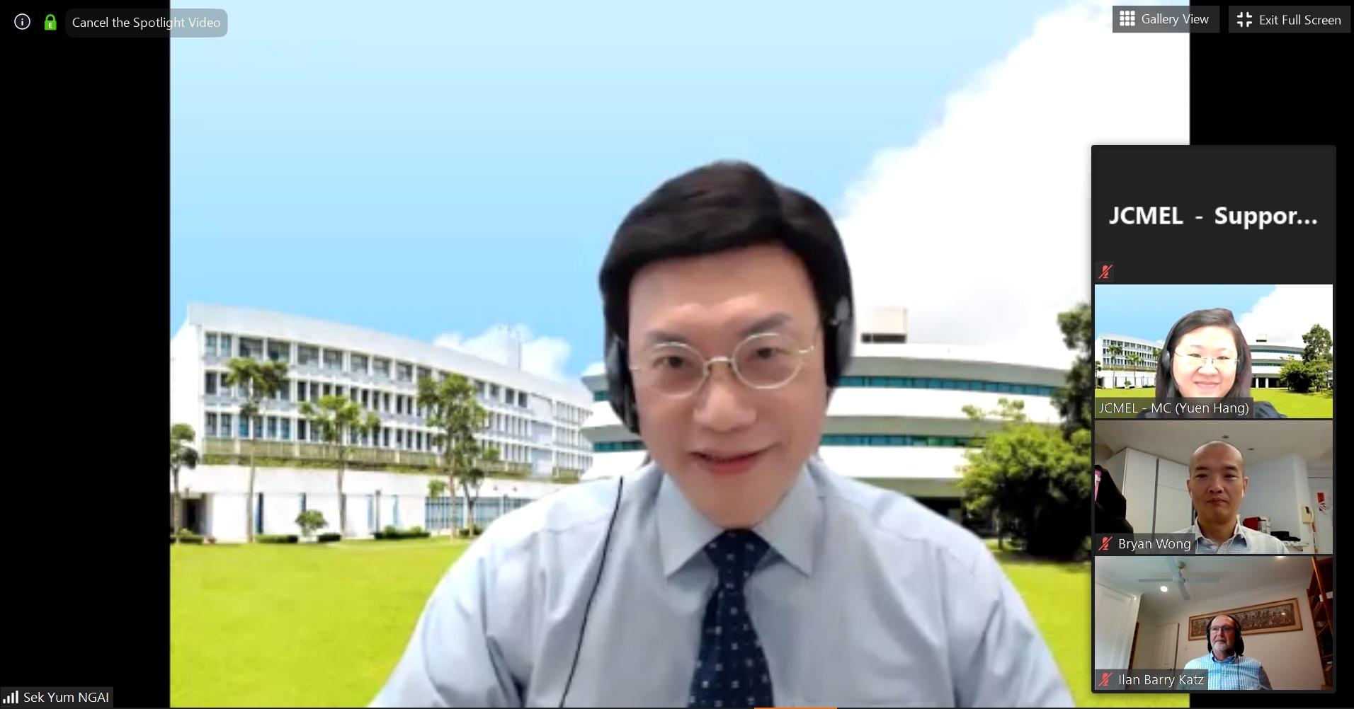 中大社會工作學系系主任倪錫欽教授。