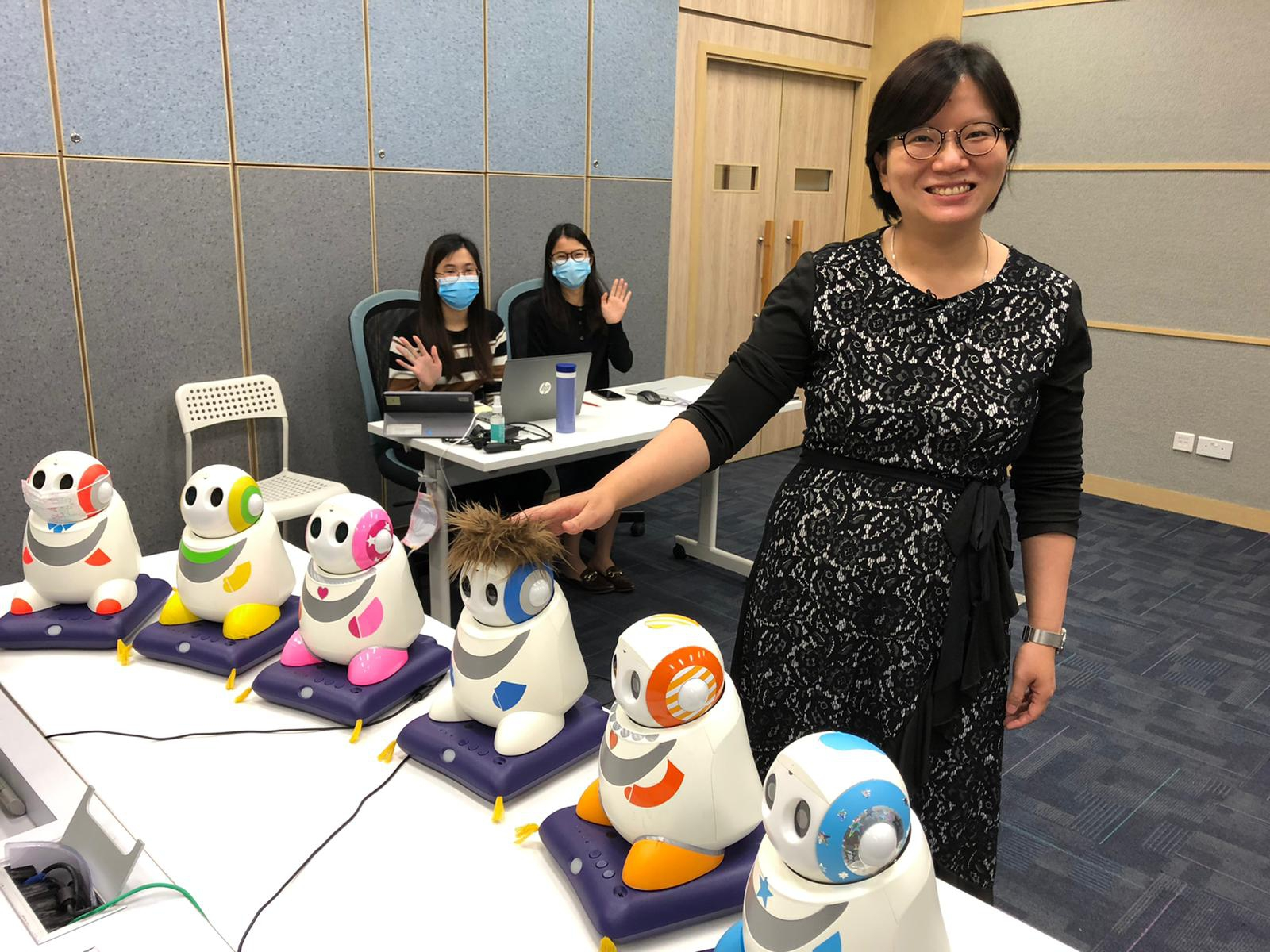 "Professor Catherine So from the Department of Educational Psychology speaks on the topic ""Robots as Mentors for Children with Autism""."